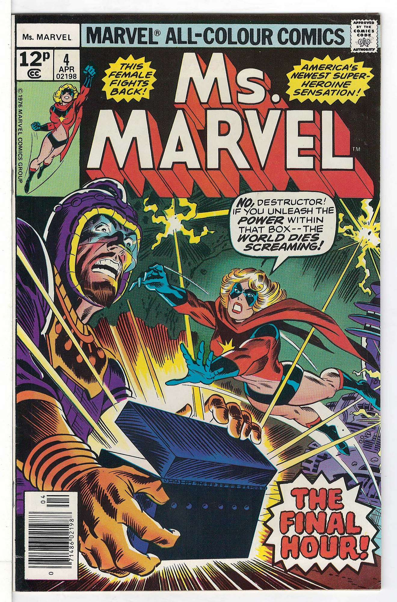 Cover of Ms Marvel (Vol 1) #4. One of 250,000 Vintage American Comics on sale from Krypton!