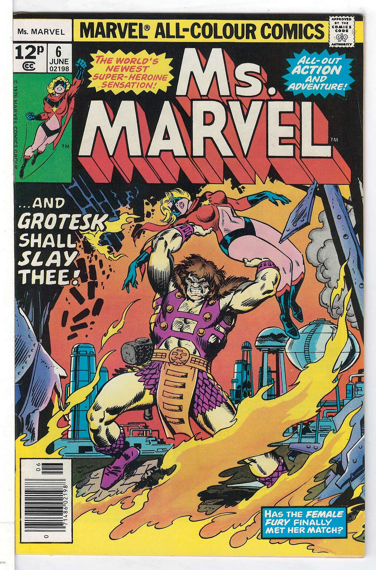 Cover of Ms Marvel (Vol 1) #6. One of 250,000 Vintage American Comics on sale from Krypton!
