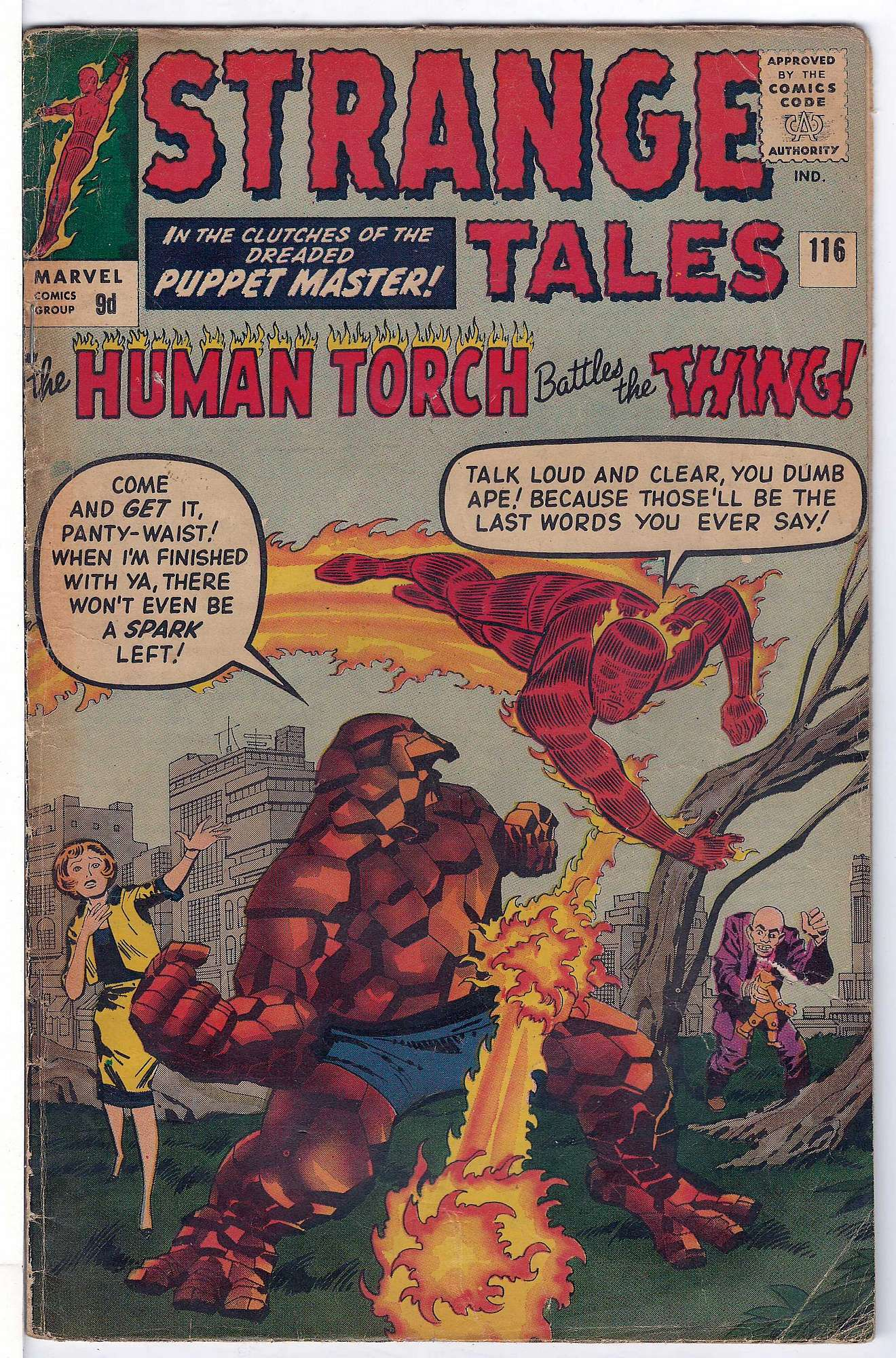 Cover of Strange Tales (Vol 1) #116. One of 250,000 Vintage American Comics on sale from Krypton!