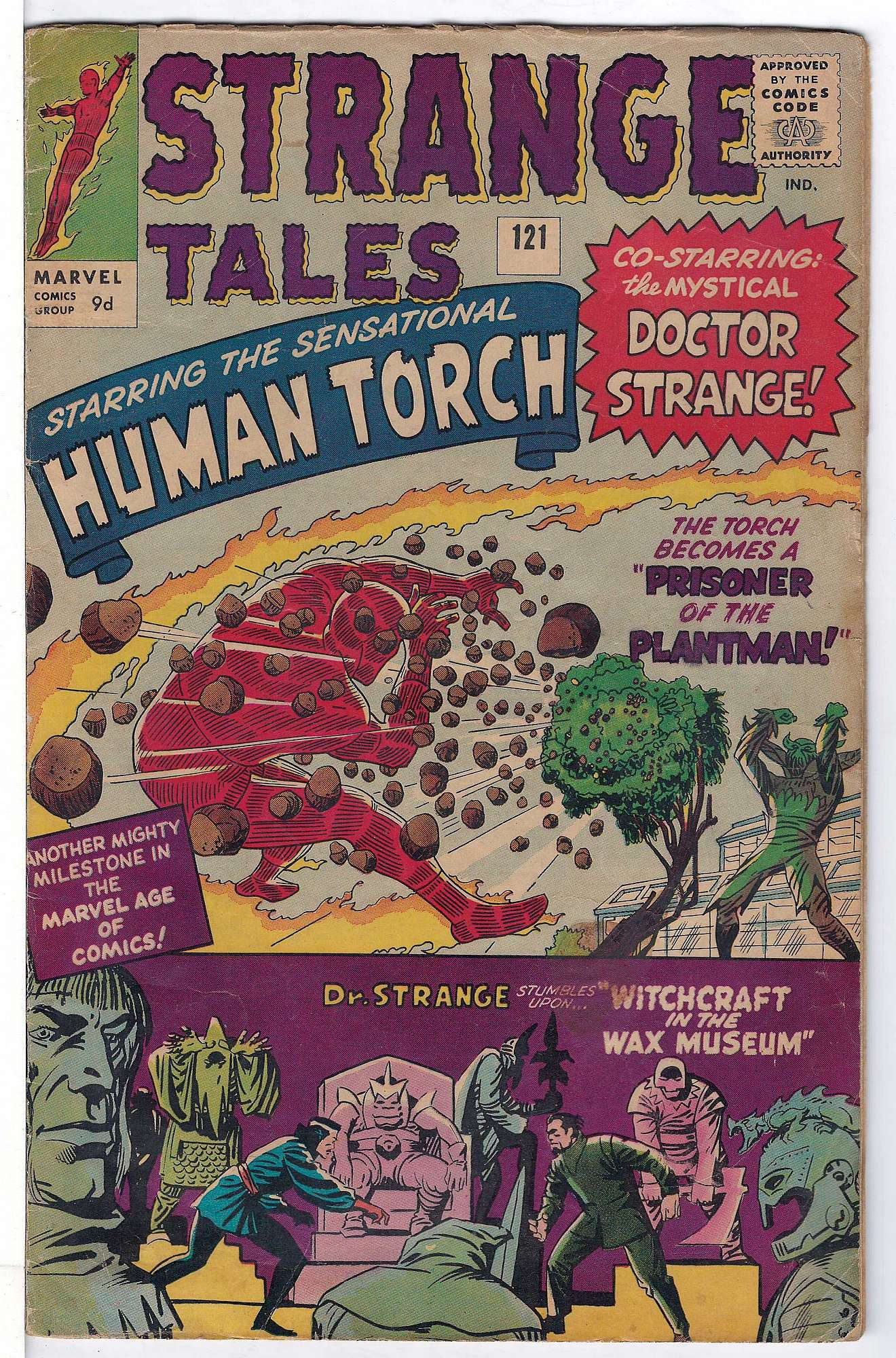 Cover of Strange Tales (Vol 1) #121. One of 250,000 Vintage American Comics on sale from Krypton!