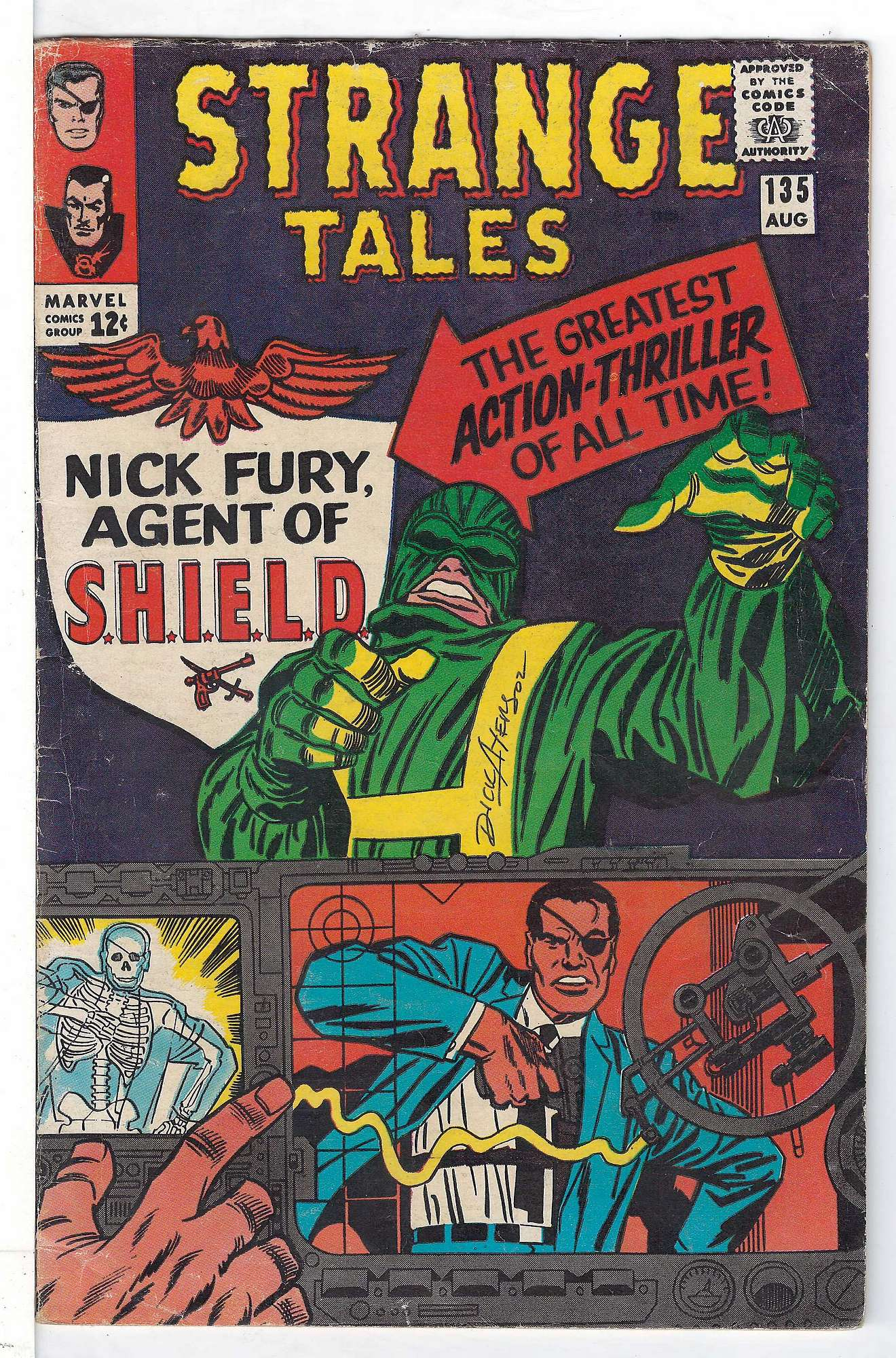 Cover of Strange Tales (Vol 1) #135. One of 250,000 Vintage American Comics on sale from Krypton!
