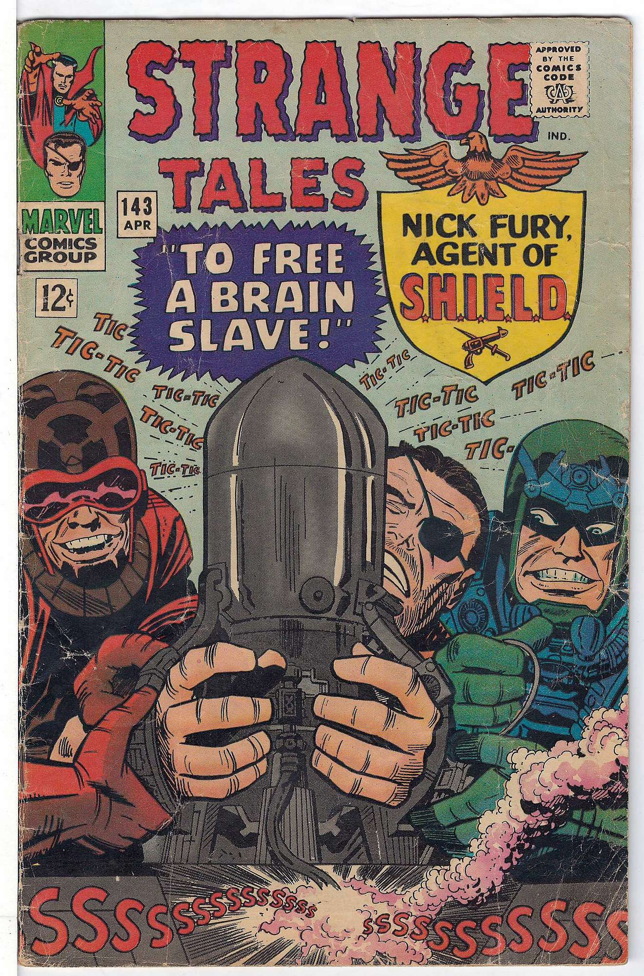 Cover of Strange Tales (Vol 1) #143. One of 250,000 Vintage American Comics on sale from Krypton!