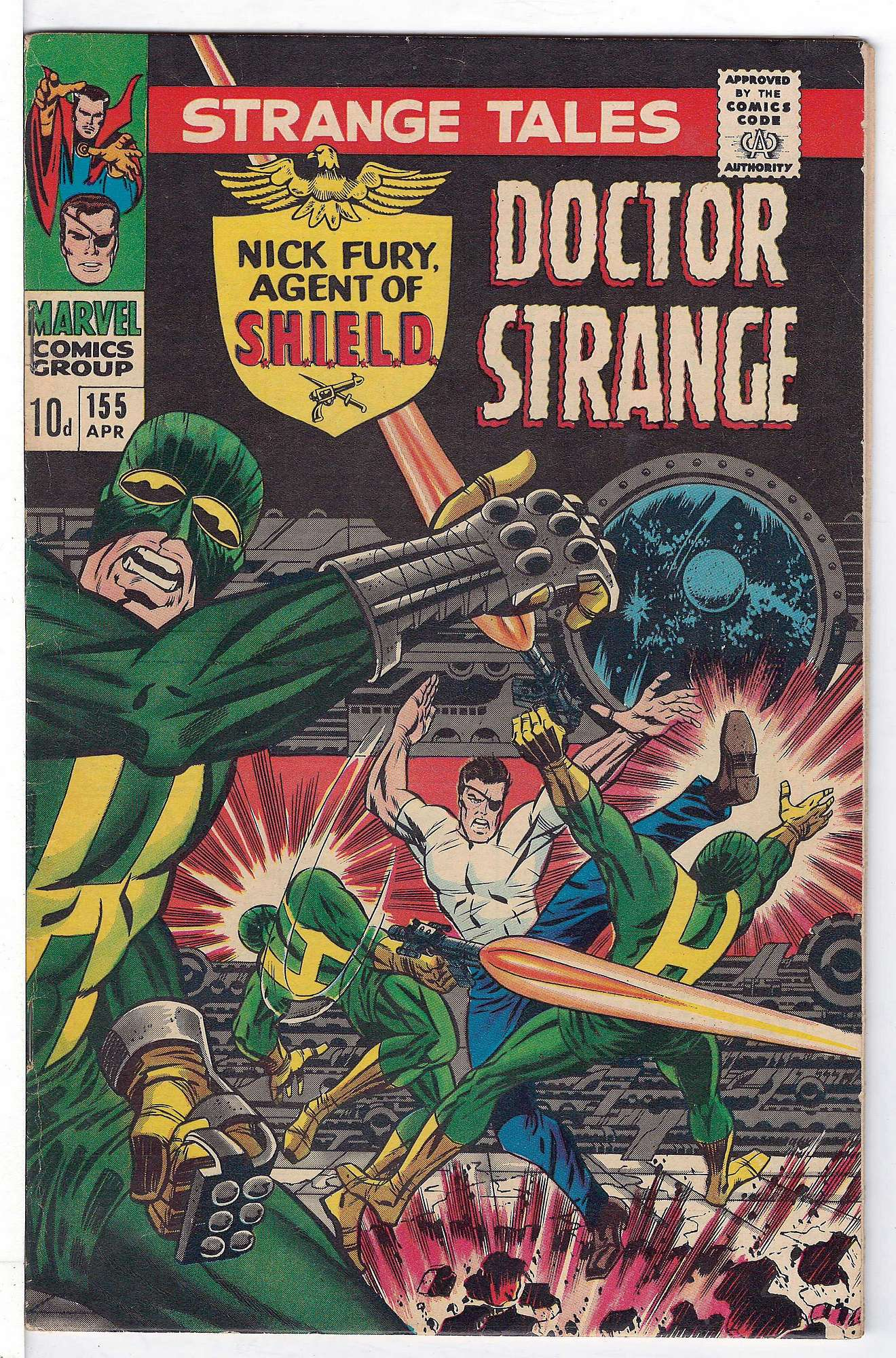 Cover of Strange Tales (Vol 1) #155. One of 250,000 Vintage American Comics on sale from Krypton!