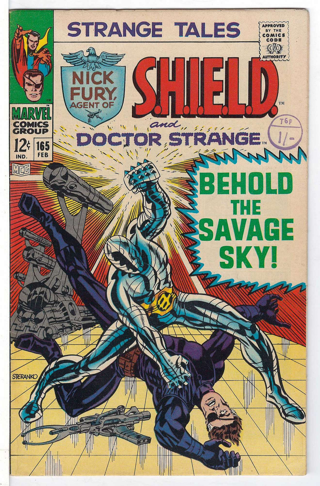Cover of Strange Tales (Vol 1) #165. One of 250,000 Vintage American Comics on sale from Krypton!