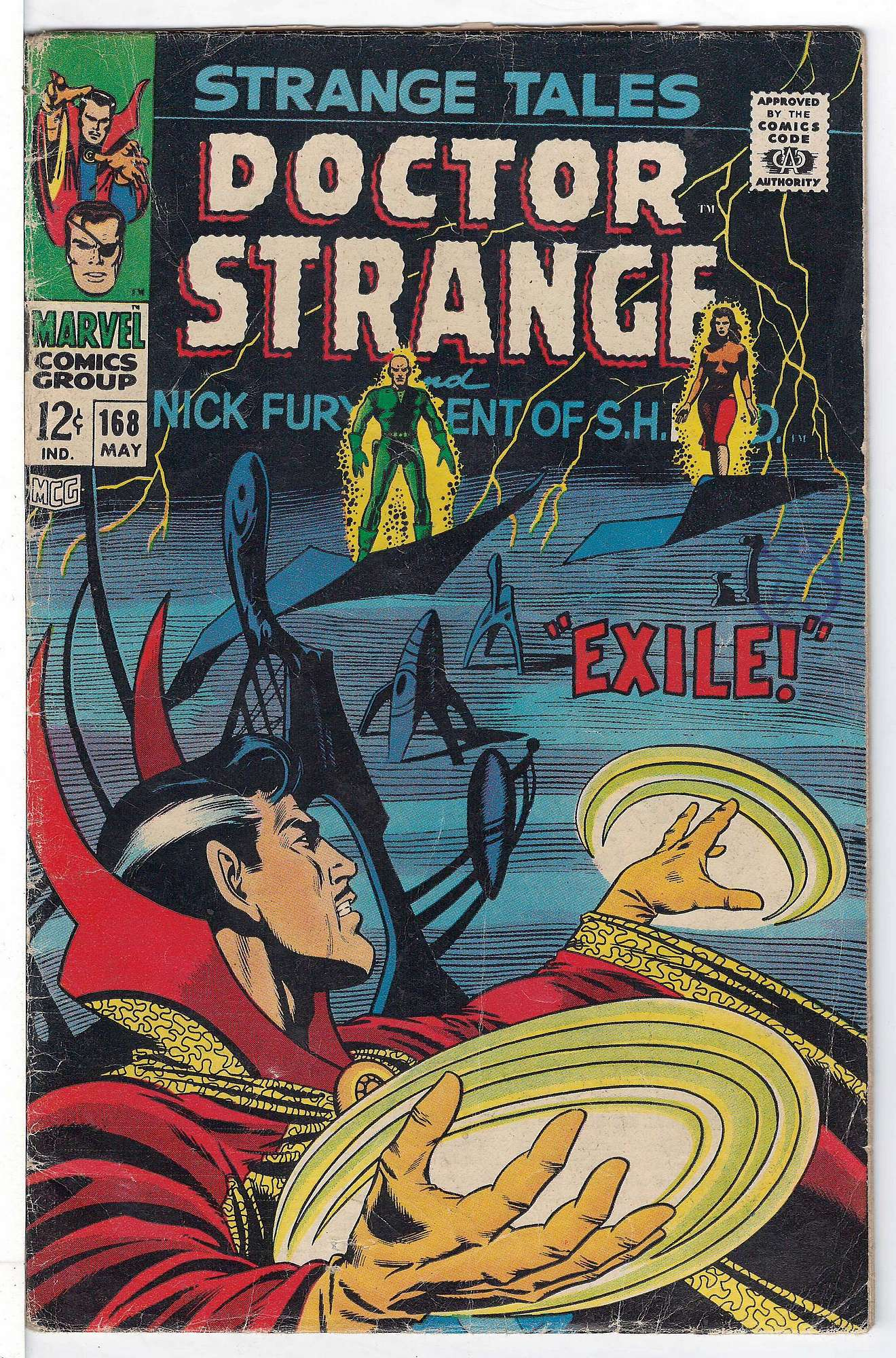 Cover of Strange Tales (Vol 1) #168. One of 250,000 Vintage American Comics on sale from Krypton!