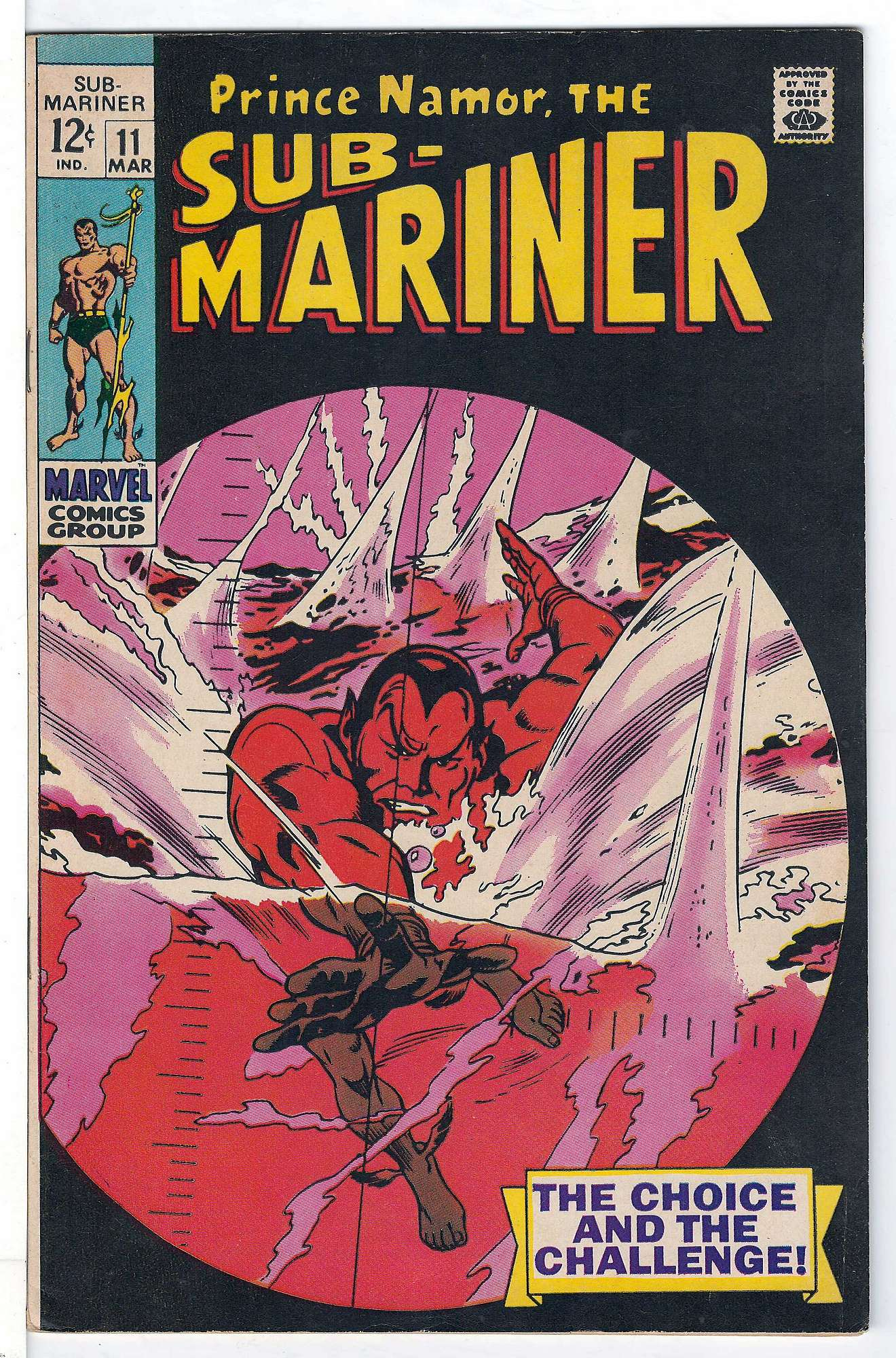 Cover of Sub-Mariner (Vol 1) #11. One of 250,000 Vintage American Comics on sale from Krypton!