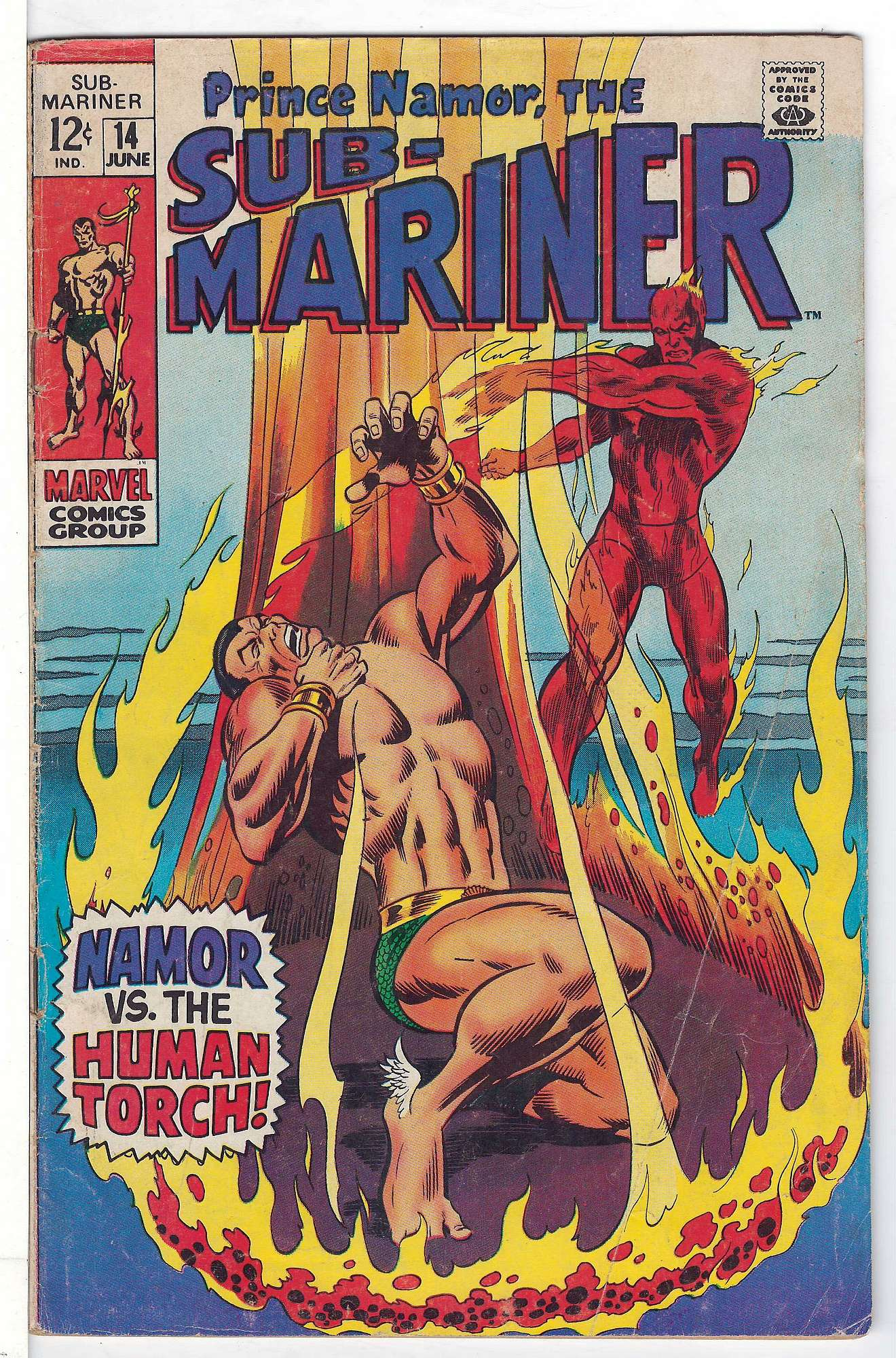 Cover of Sub-Mariner (Vol 1) #14. One of 250,000 Vintage American Comics on sale from Krypton!