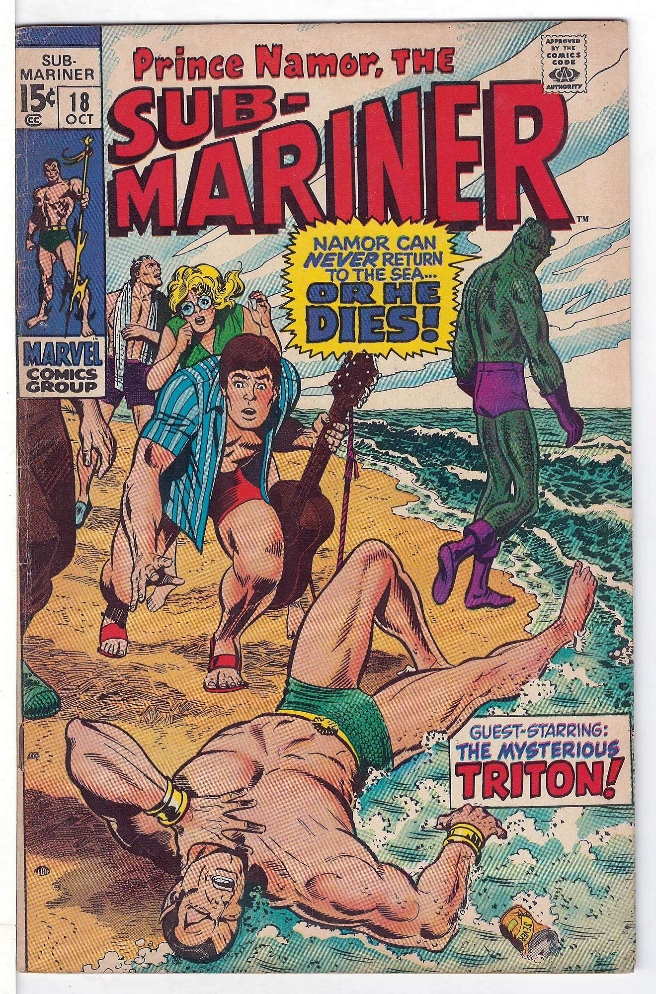 Cover of Sub-Mariner (Vol 1) #18. One of 250,000 Vintage American Comics on sale from Krypton!