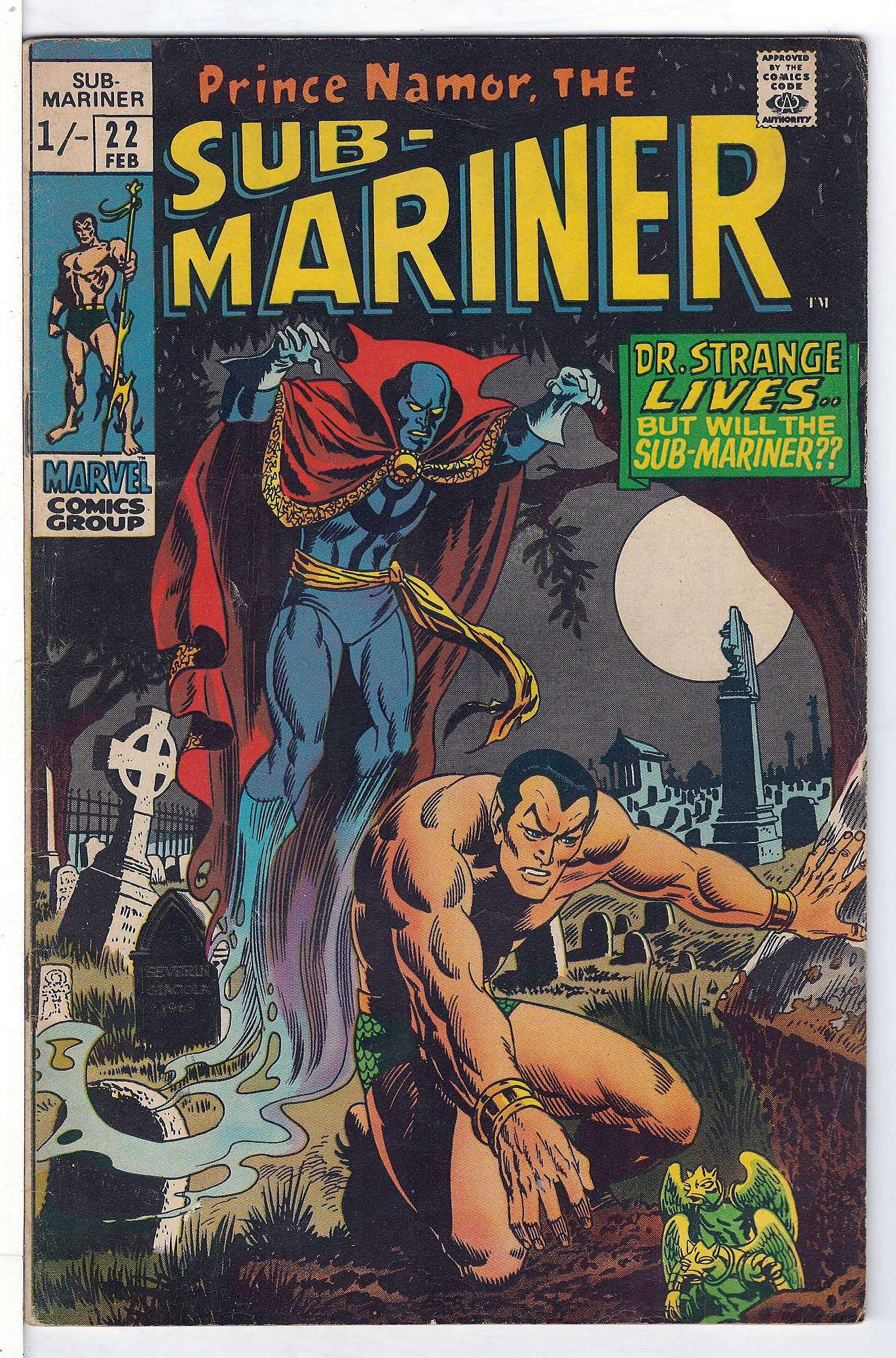 Cover of Sub-Mariner (Vol 1) #22. One of 250,000 Vintage American Comics on sale from Krypton!