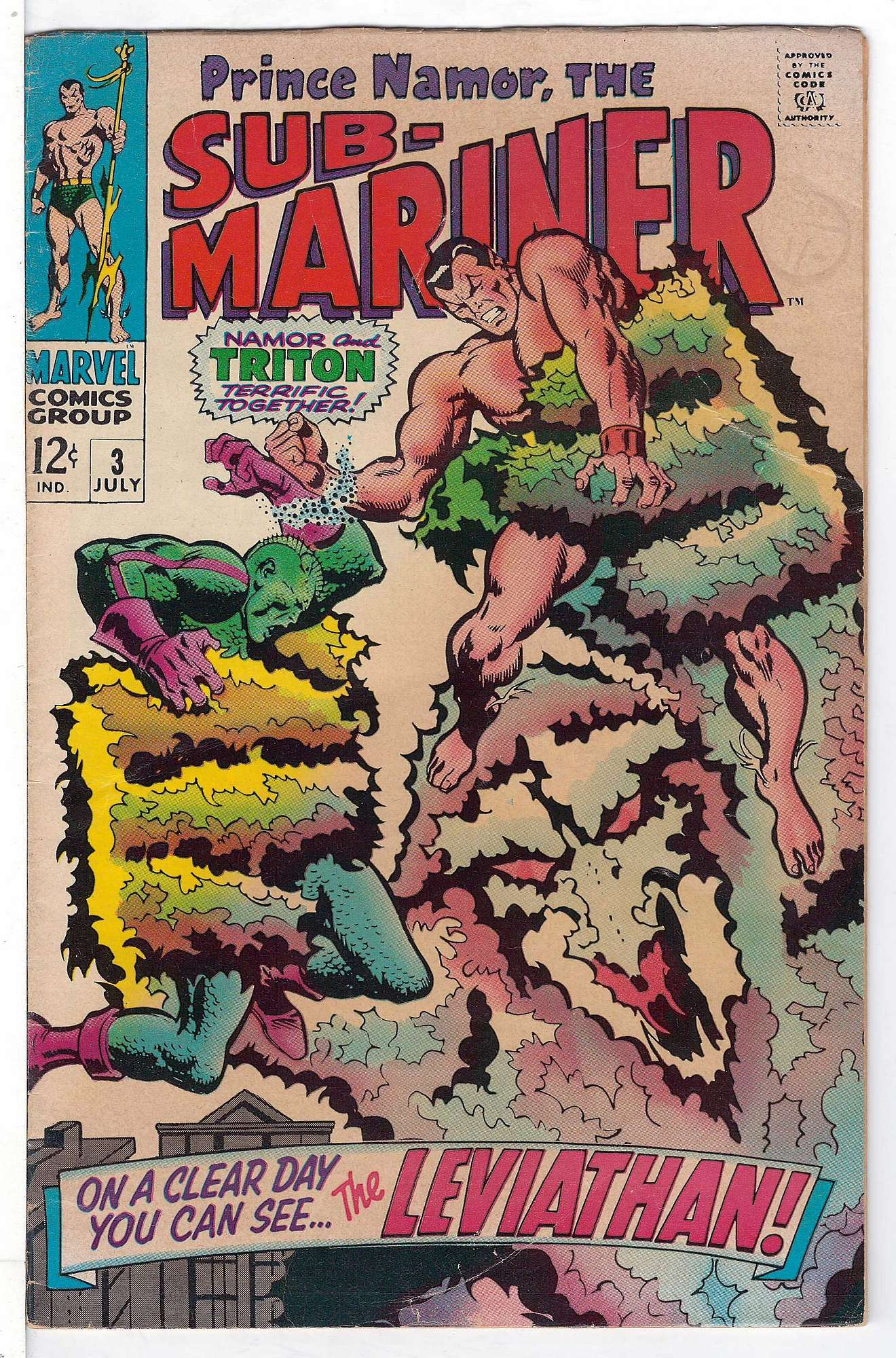 Cover of Sub-Mariner (Vol 1) #3. One of 250,000 Vintage American Comics on sale from Krypton!