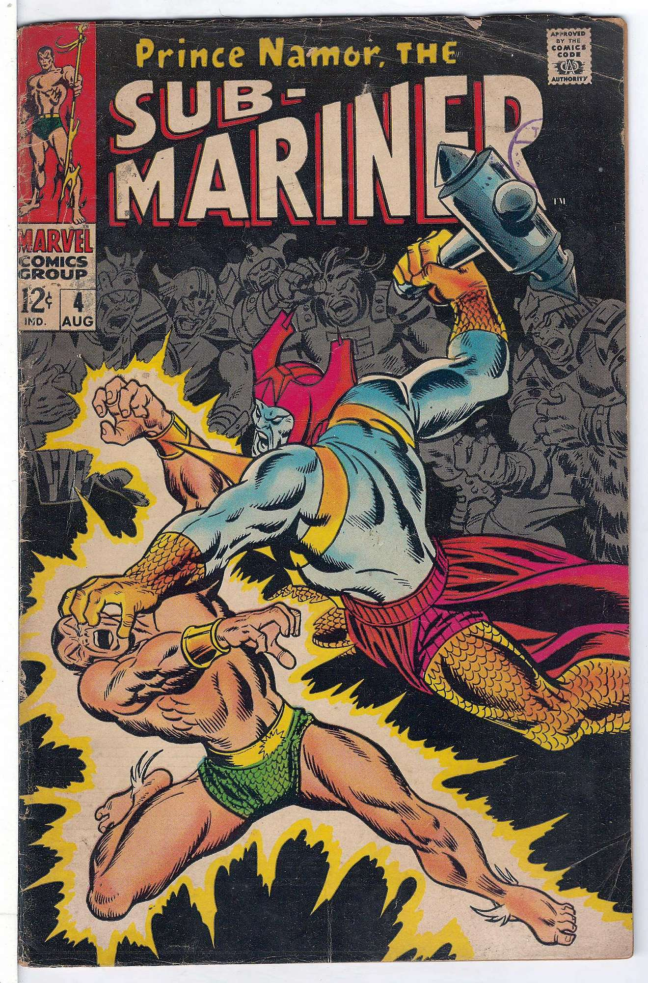 Cover of Sub-Mariner (Vol 1) #4. One of 250,000 Vintage American Comics on sale from Krypton!