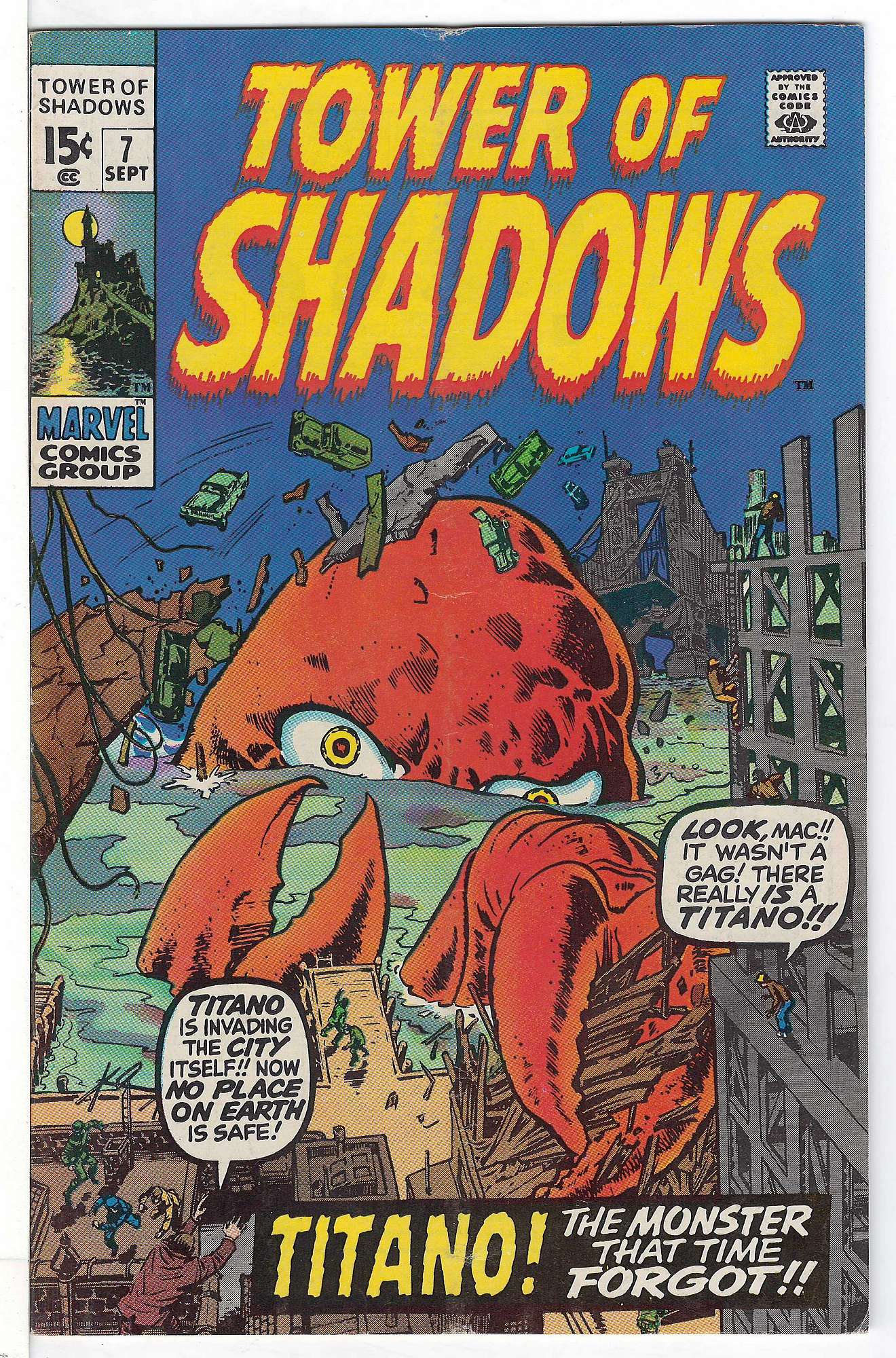 Cover of Tower of Shadows (Vol 1) #7. One of 250,000 Vintage American Comics on sale from Krypton!