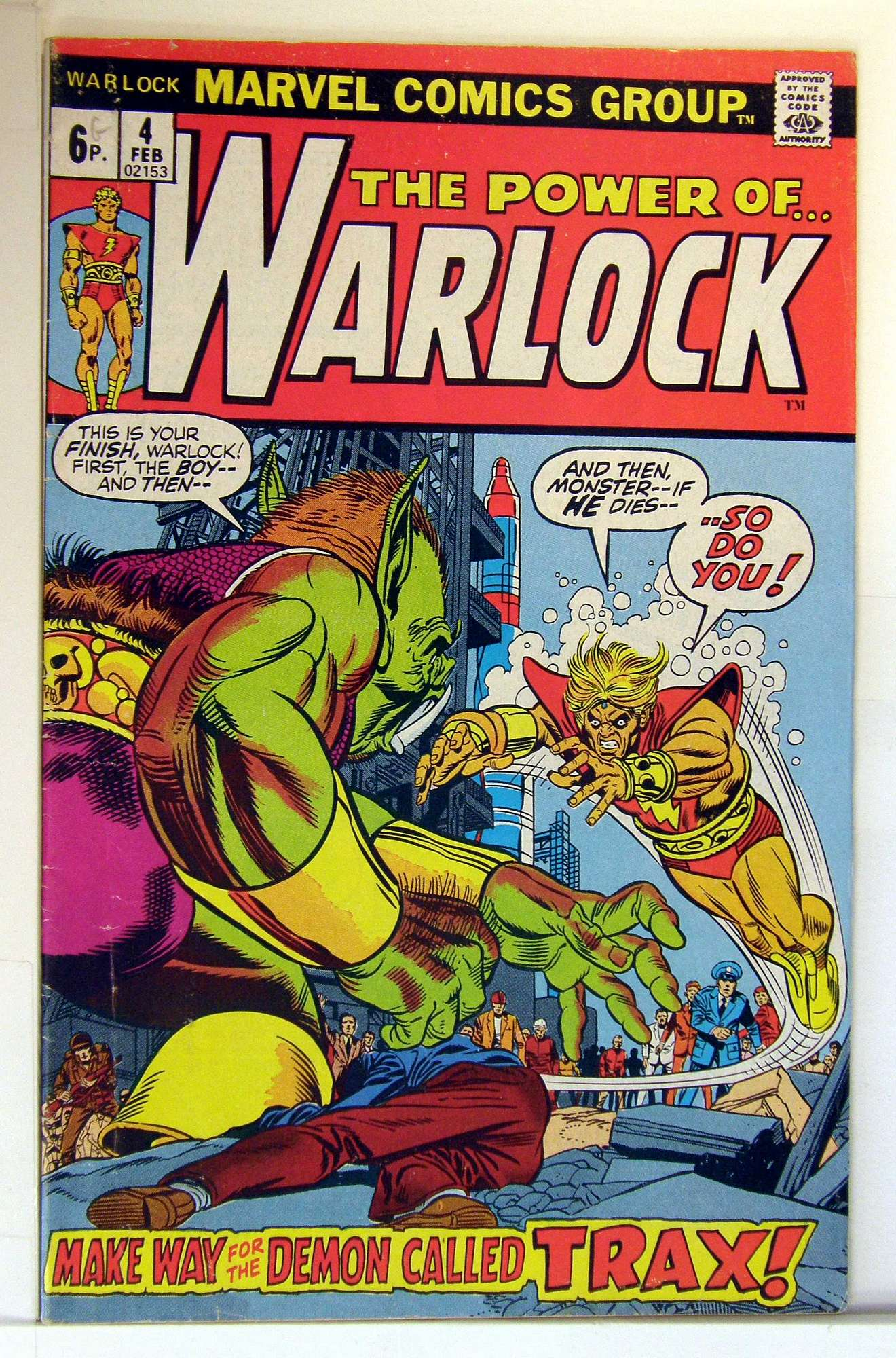 Cover of Warlock (Vol 1) The Power of #4. One of 250,000 Vintage American Comics on sale from Krypton!