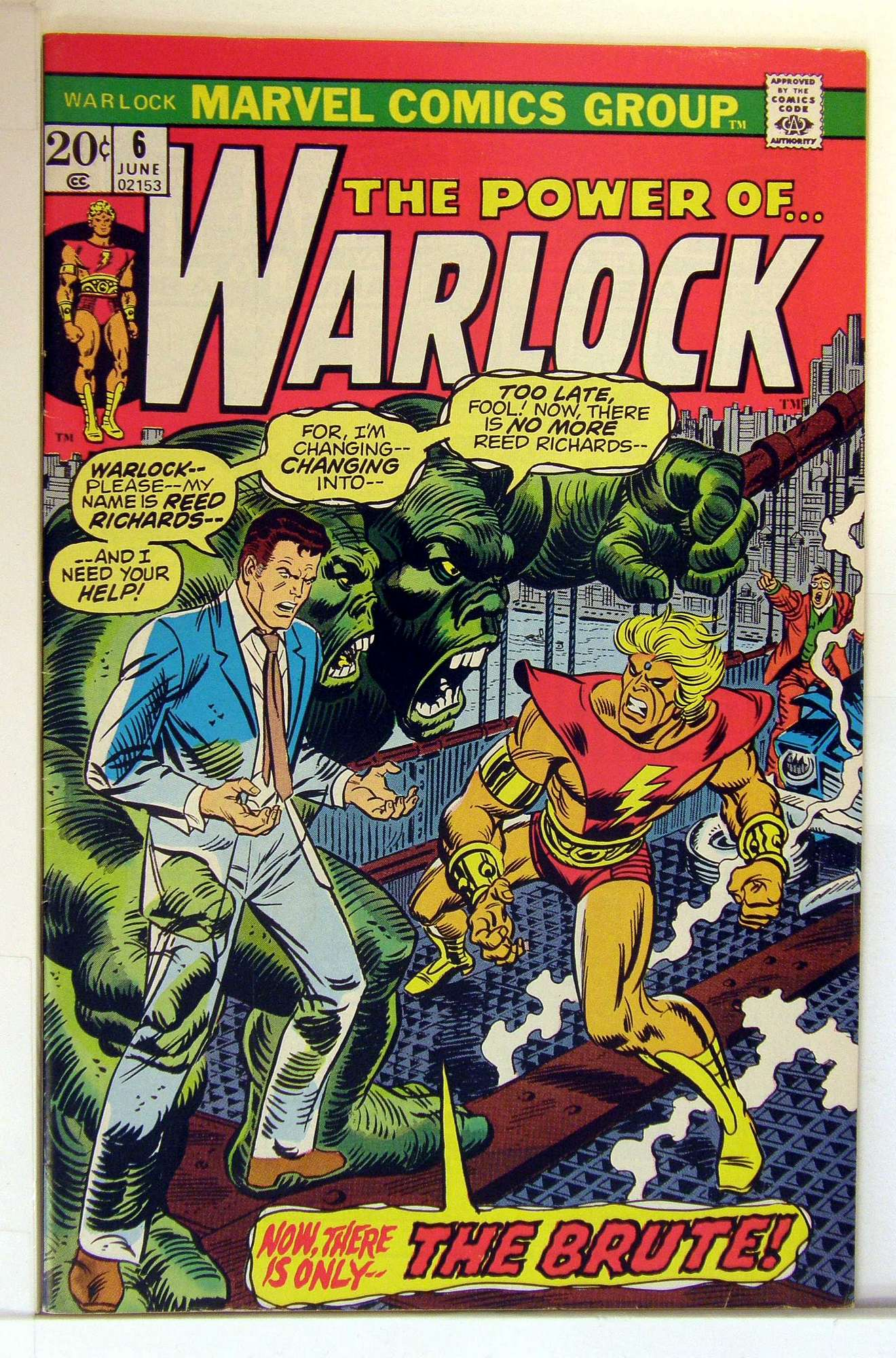 Cover of Warlock (Vol 1) The Power of #6. One of 250,000 Vintage American Comics on sale from Krypton!