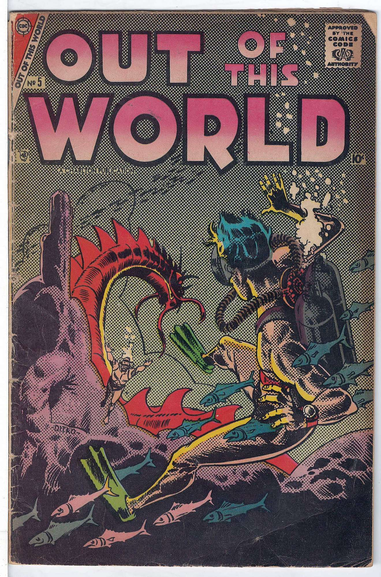 Cover of Out of this World #5. One of 250,000 Vintage American Comics on sale from Krypton!