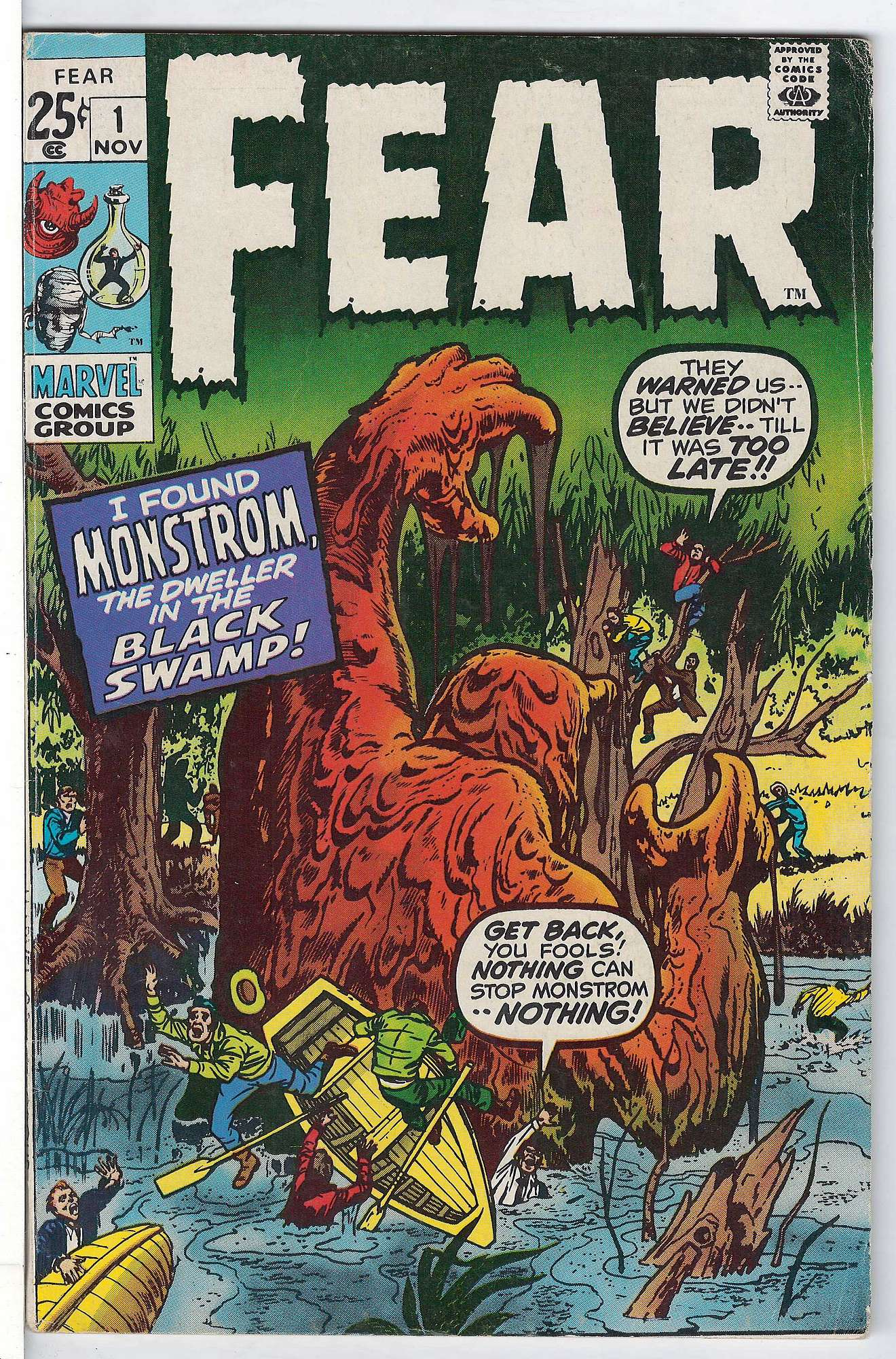 Cover of Fear (Vol 1) #1. One of 250,000 Vintage American Comics on sale from Krypton!