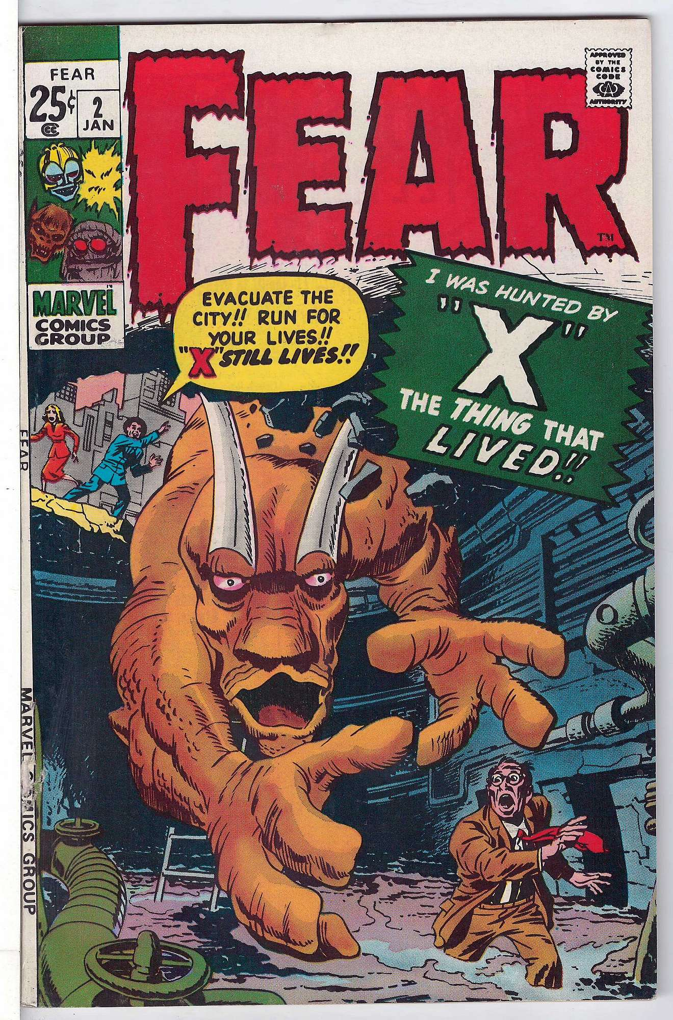 Cover of Fear (Vol 1) #2. One of 250,000 Vintage American Comics on sale from Krypton!