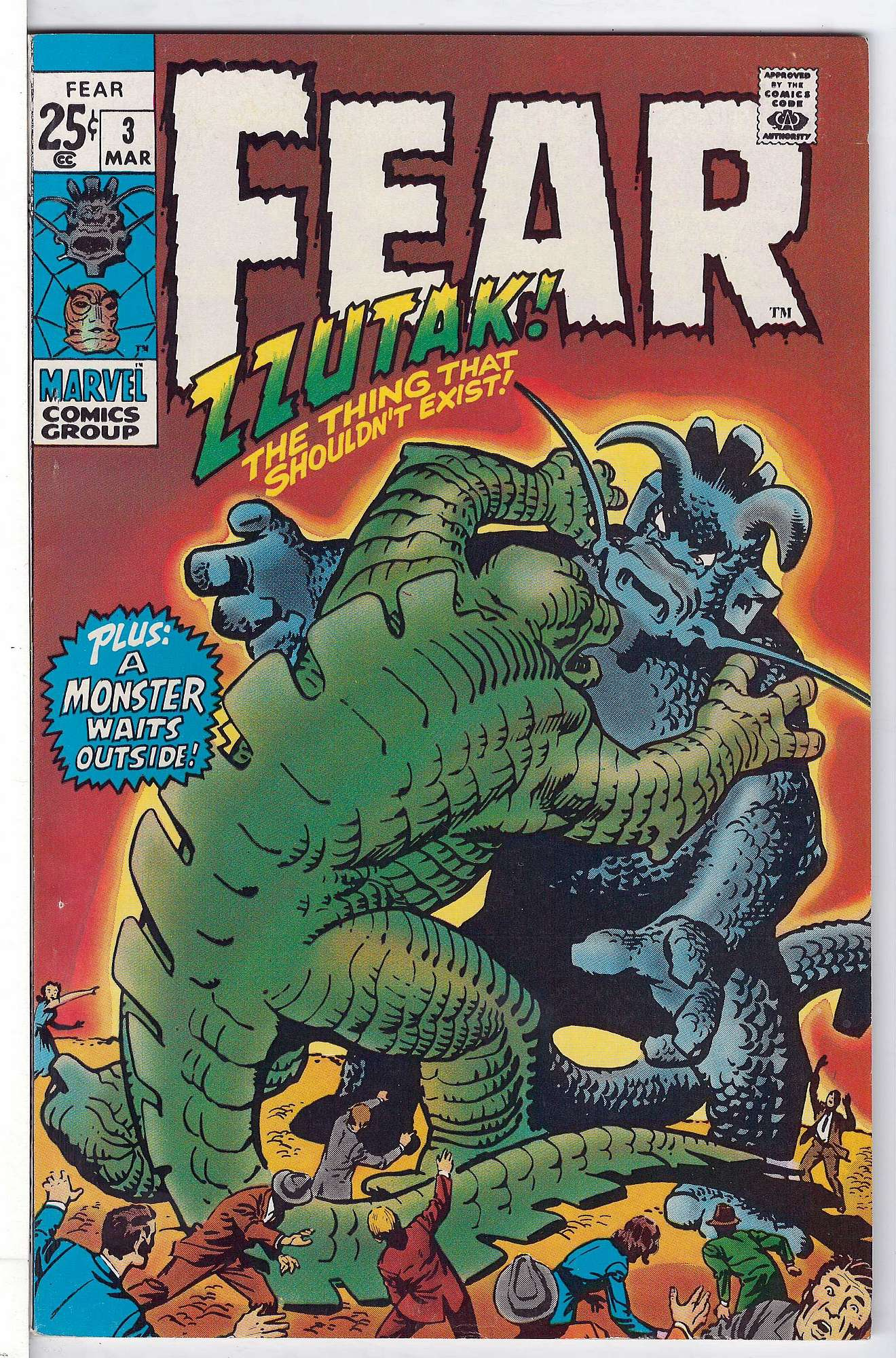 Cover of Fear (Vol 1) #3. One of 250,000 Vintage American Comics on sale from Krypton!