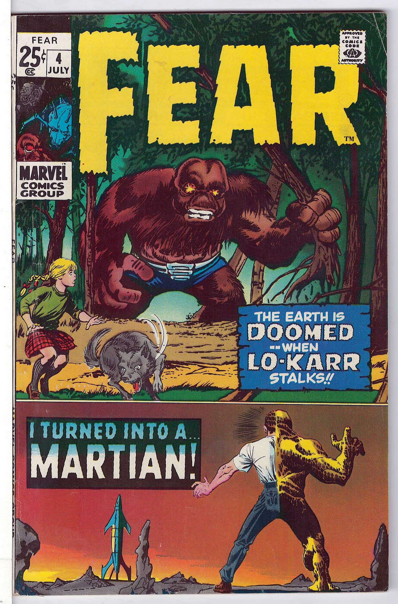 Cover of Fear (Vol 1) #4. One of 250,000 Vintage American Comics on sale from Krypton!