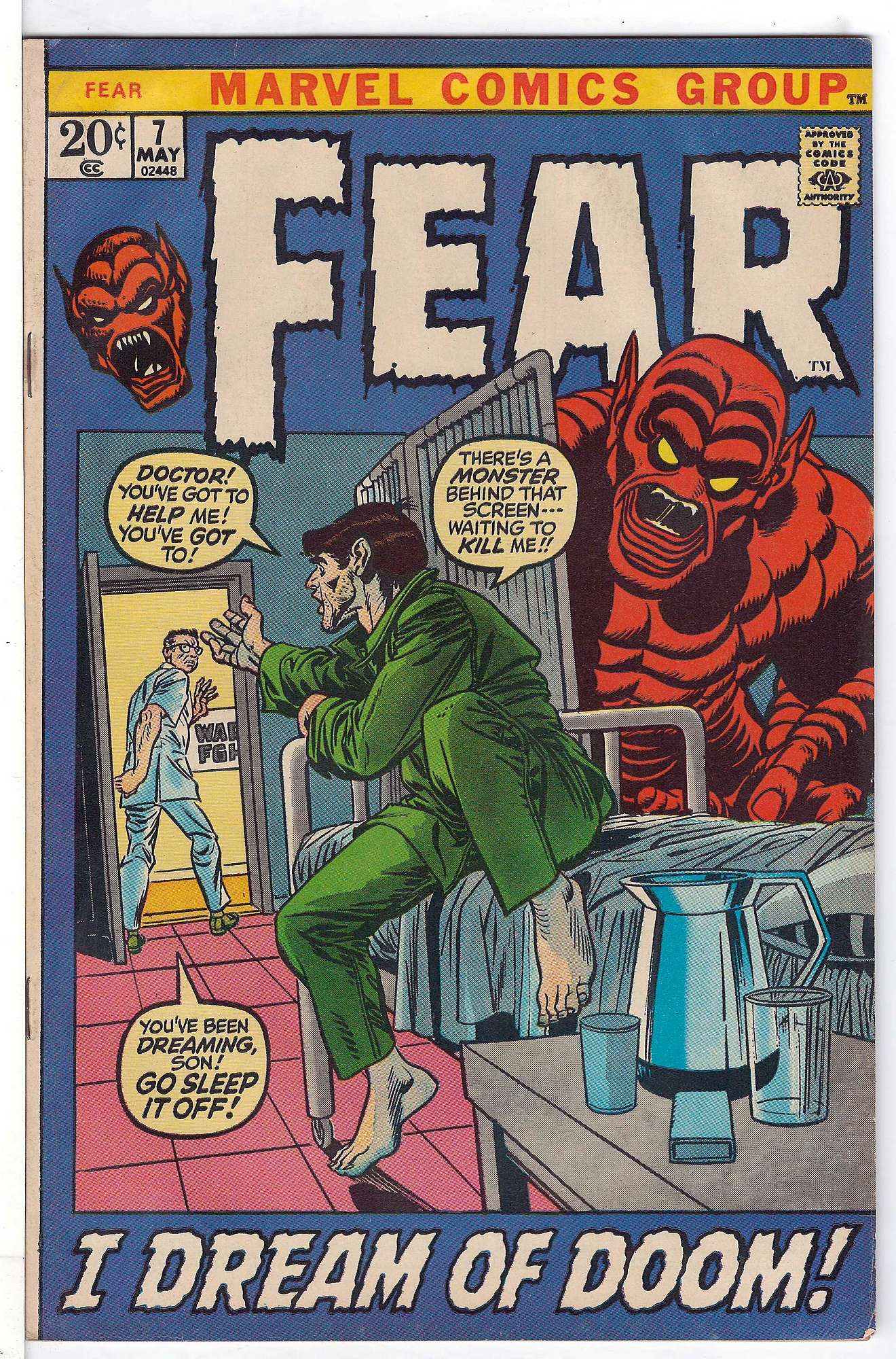 Cover of Fear (Vol 1) #7. One of 250,000 Vintage American Comics on sale from Krypton!