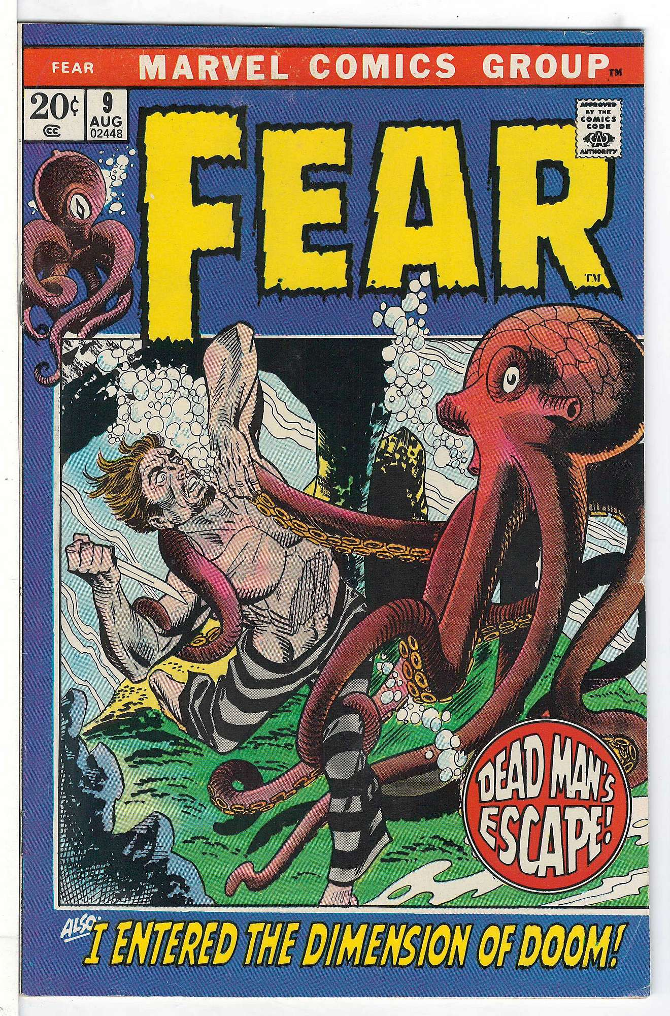 Cover of Fear (Vol 1) #9. One of 250,000 Vintage American Comics on sale from Krypton!
