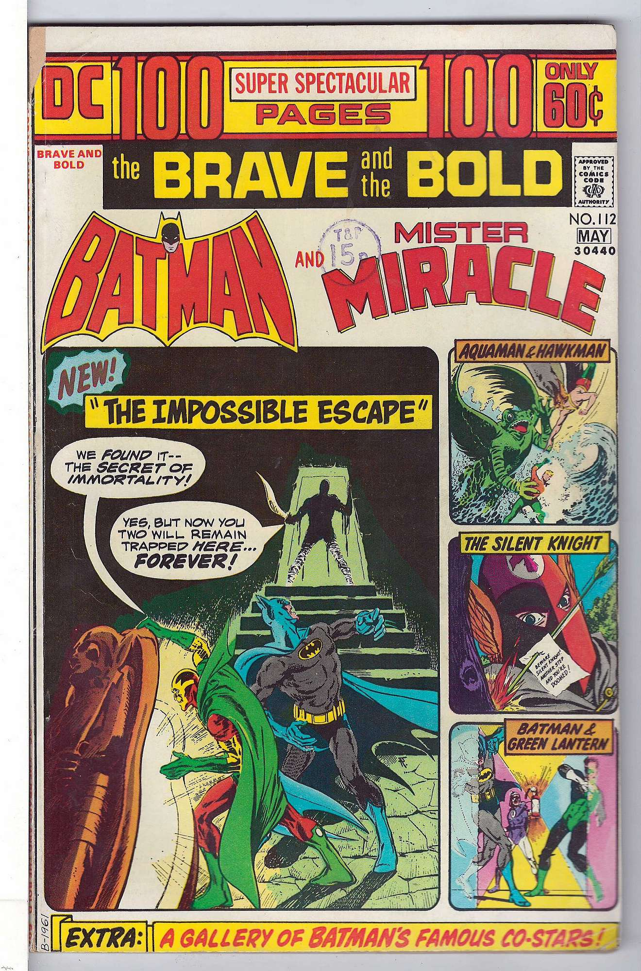 Cover of Brave & The Bold (Vol 1) #112. One of 250,000 Vintage American Comics on sale from Krypton!