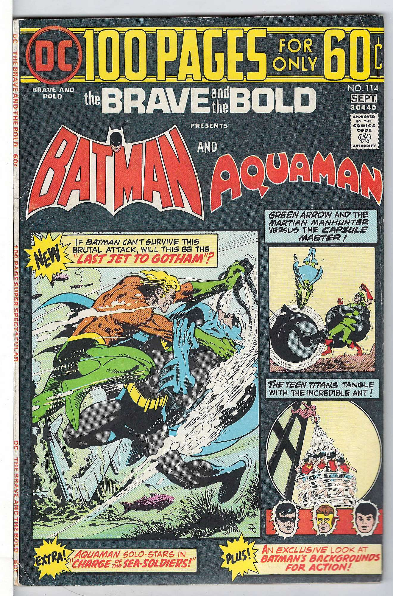 Cover of Brave & The Bold (Vol 1) #114. One of 250,000 Vintage American Comics on sale from Krypton!