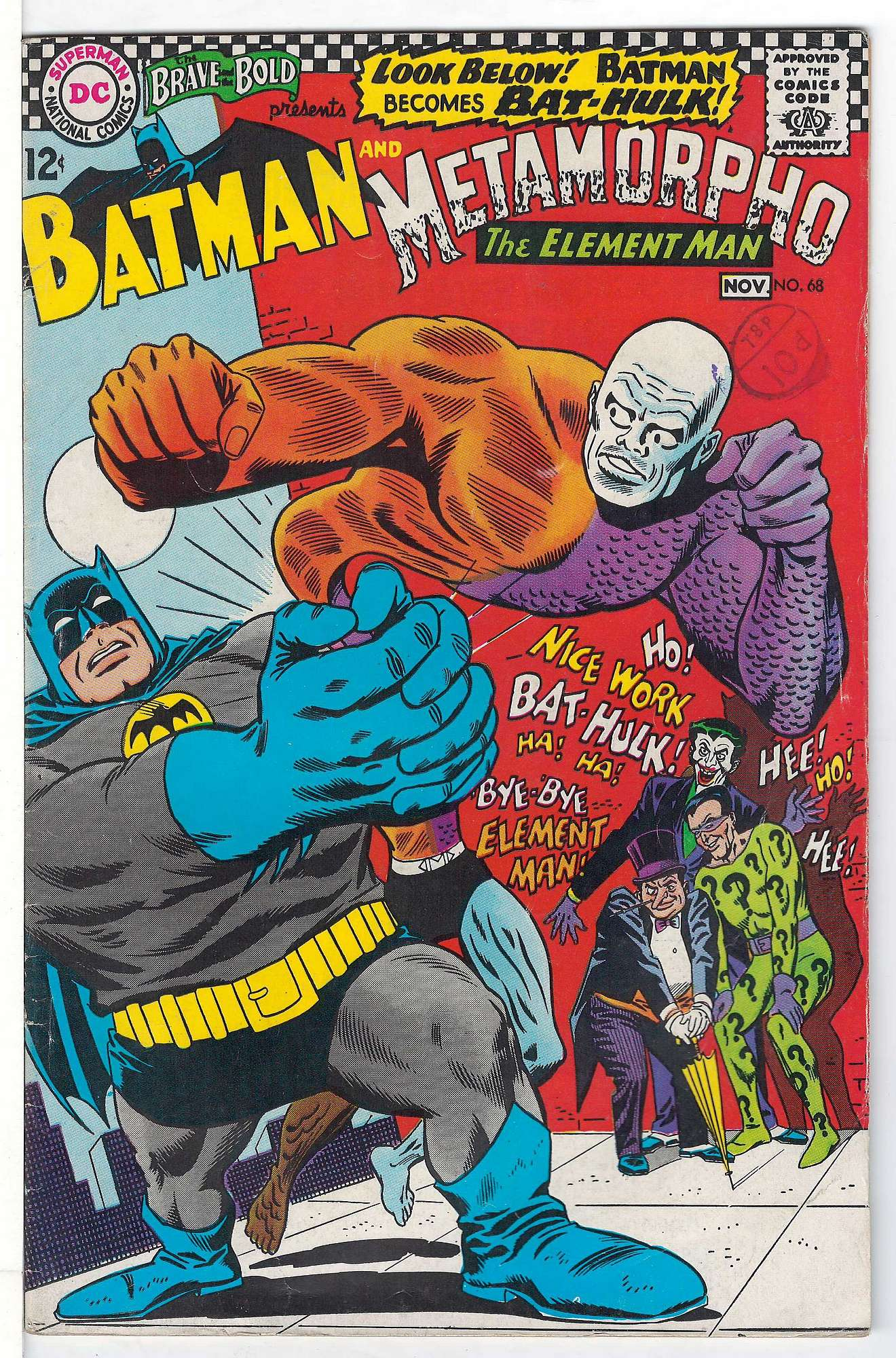 Cover of Brave & The Bold (Vol 1) #68. One of 250,000 Vintage American Comics on sale from Krypton!