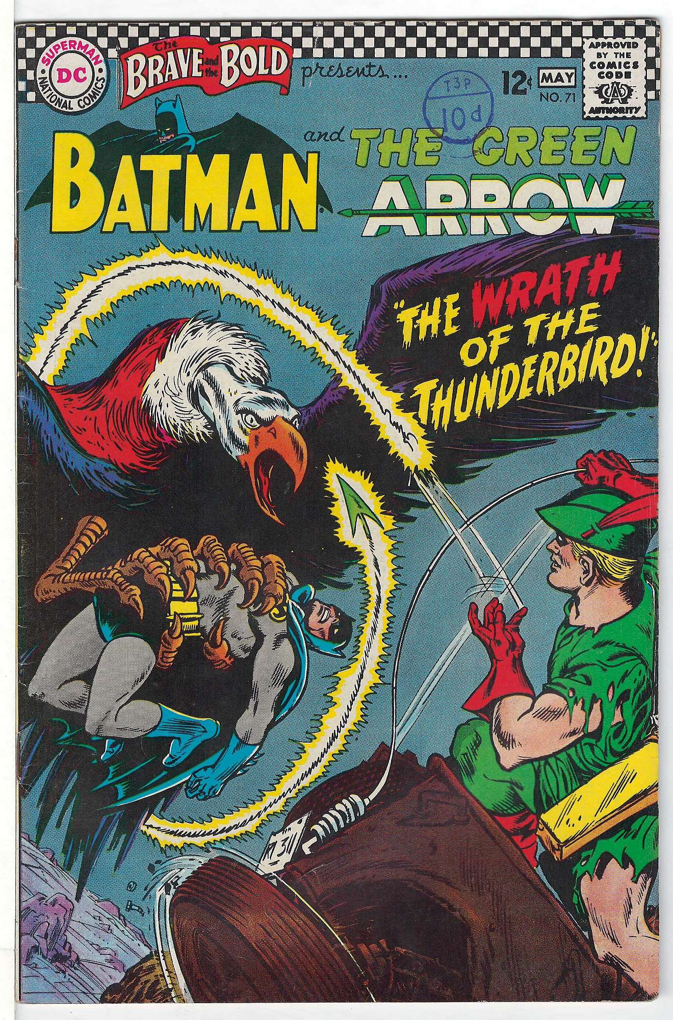 Cover of Brave & The Bold (Vol 1) #71. One of 250,000 Vintage American Comics on sale from Krypton!