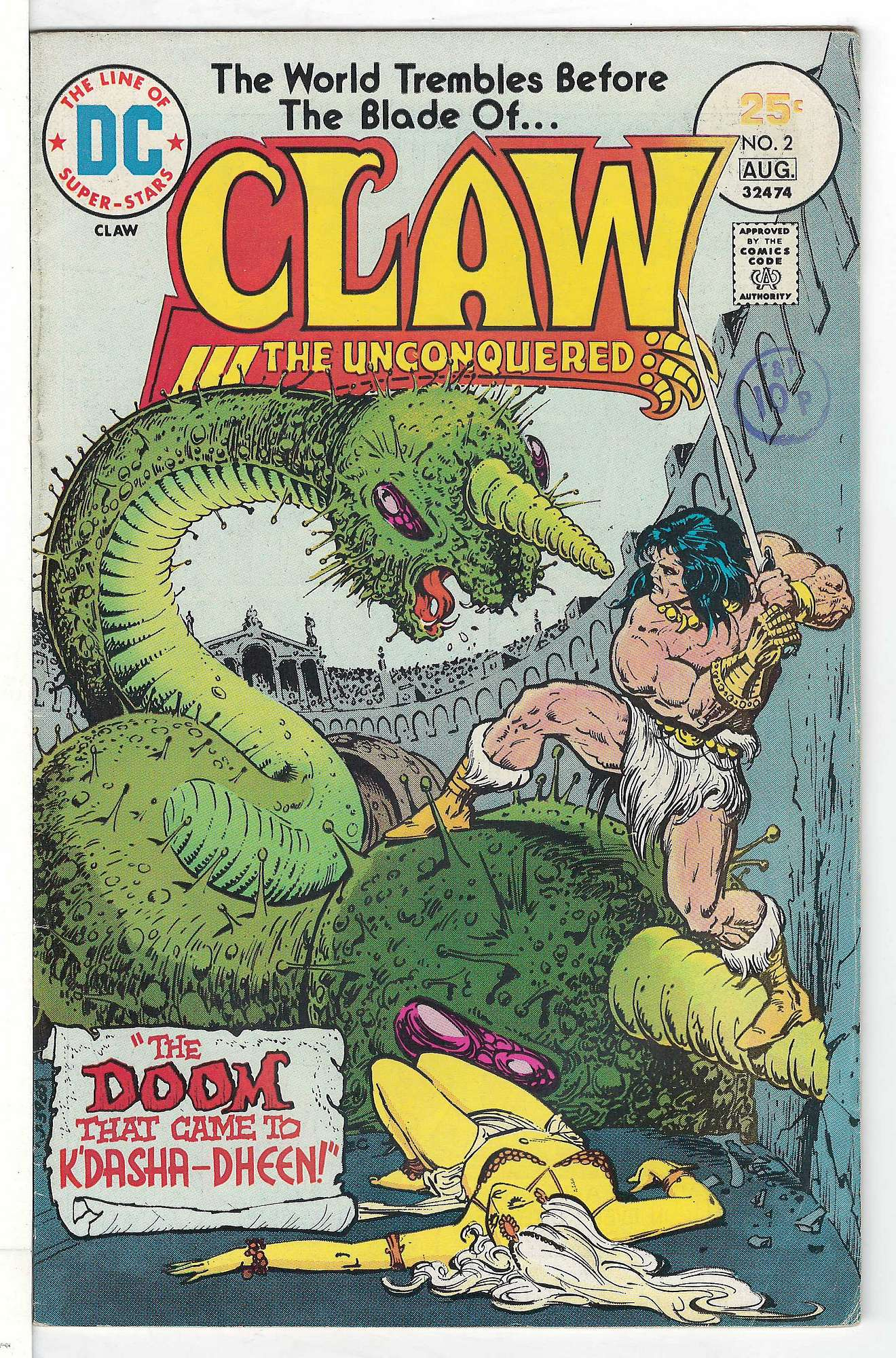 Cover of Claw The Unconquered (Vol 1) #2. One of 250,000 Vintage American Comics on sale from Krypton!