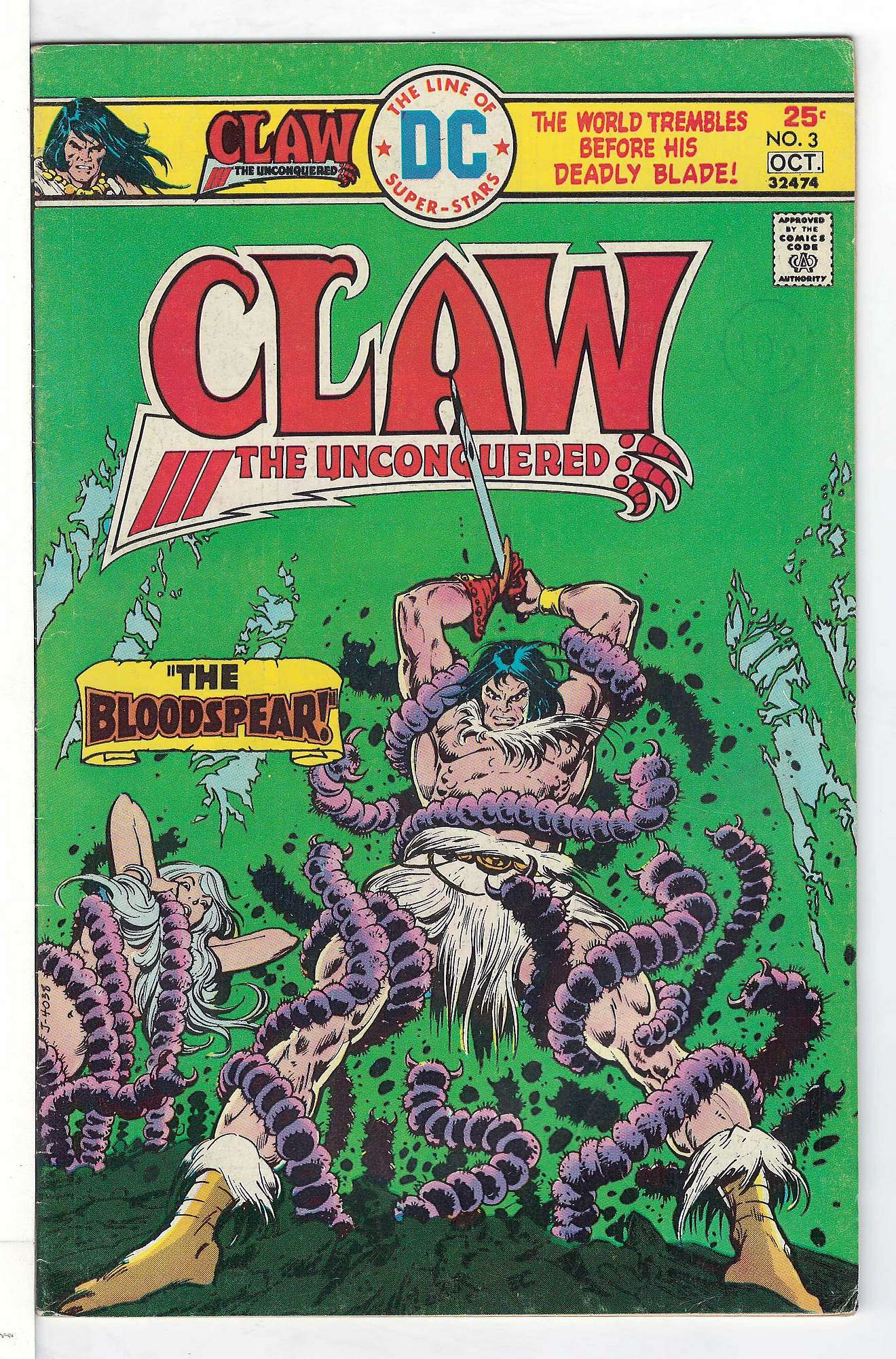 Cover of Claw The Unconquered (Vol 1) #3. One of 250,000 Vintage American Comics on sale from Krypton!