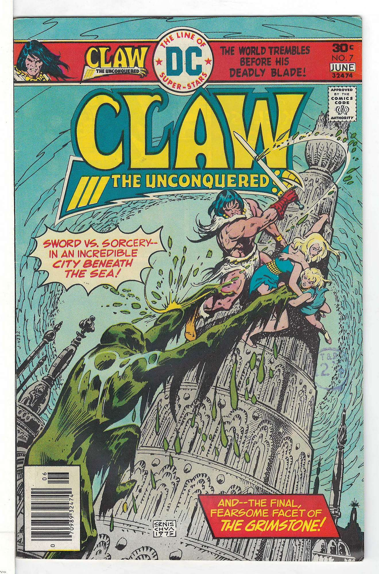 Cover of Claw The Unconquered (Vol 1) #7. One of 250,000 Vintage American Comics on sale from Krypton!