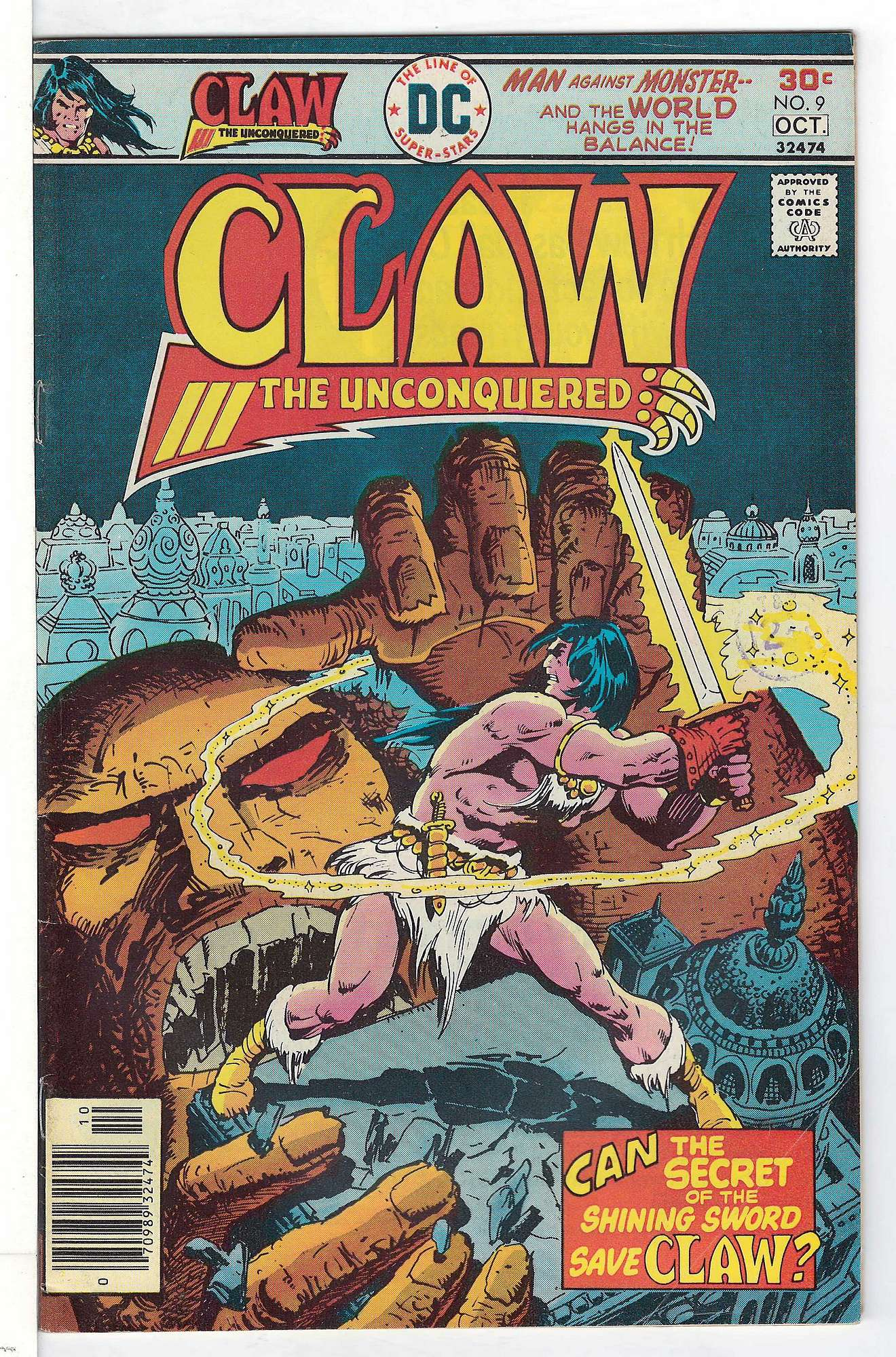 Cover of Claw The Unconquered (Vol 1) #9. One of 250,000 Vintage American Comics on sale from Krypton!