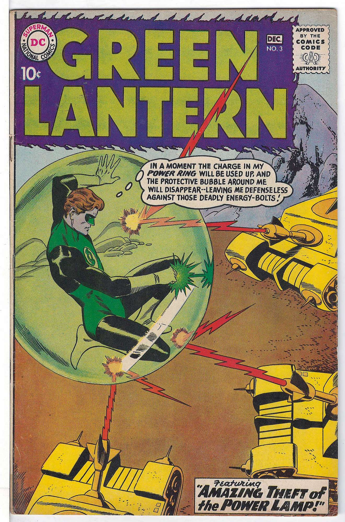 Cover of Green Lantern (Vol 2) #3. One of 250,000 Vintage American Comics on sale from Krypton!