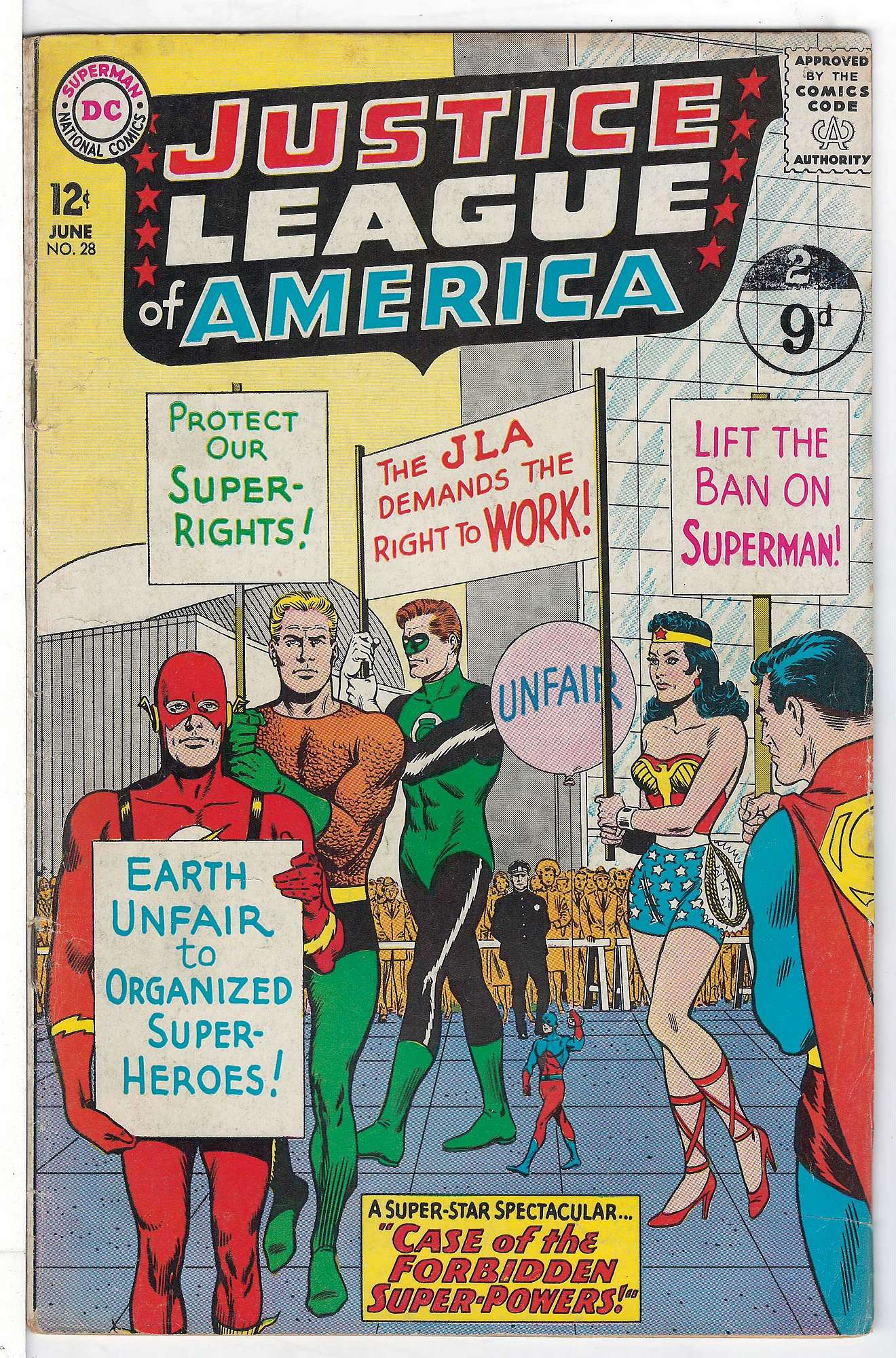 Cover of Justice League of America (Vol 1) #28. One of 250,000 Vintage American Comics on sale from Krypton!