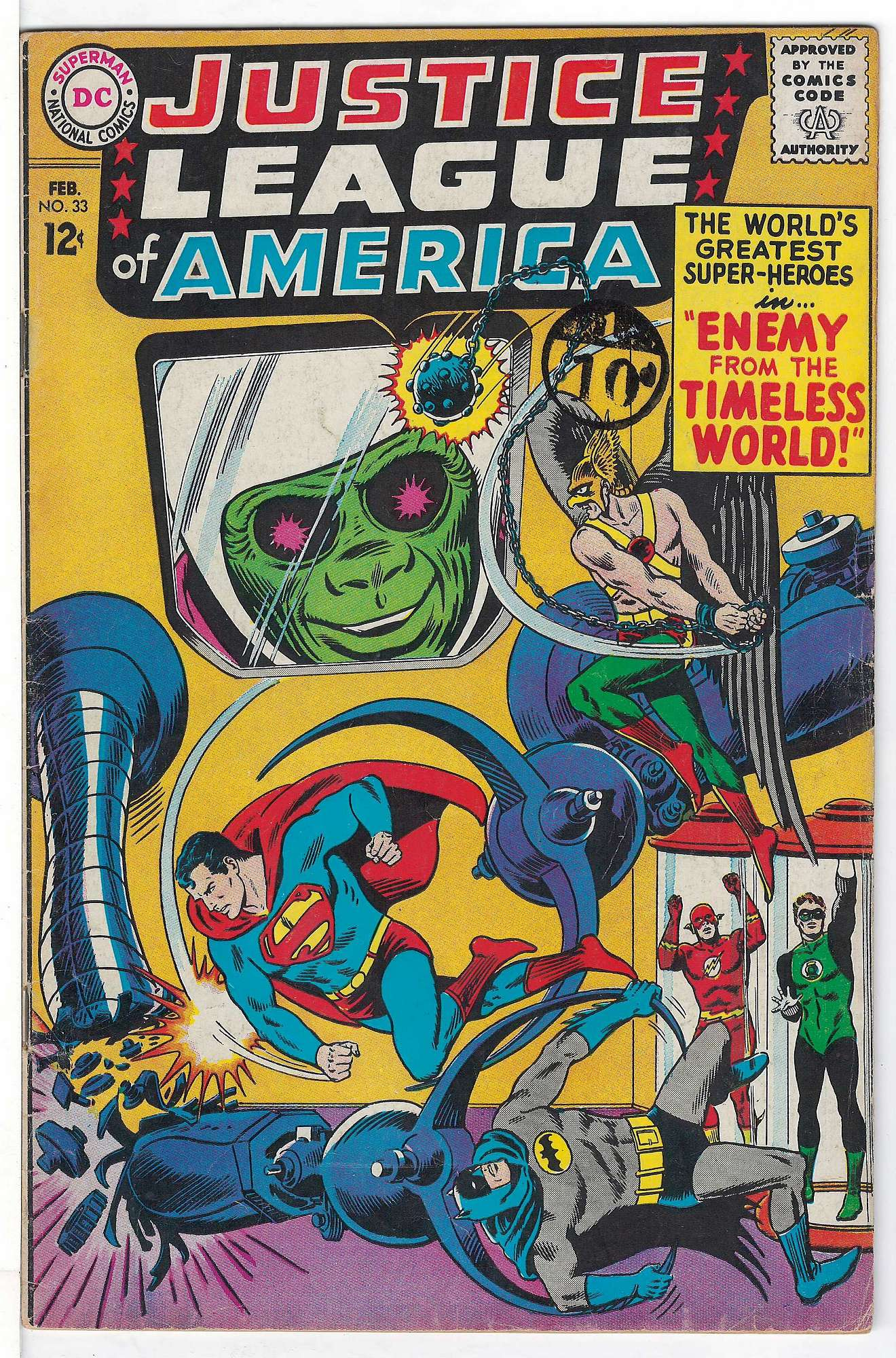 Cover of Justice League of America (Vol 1) #33. One of 250,000 Vintage American Comics on sale from Krypton!