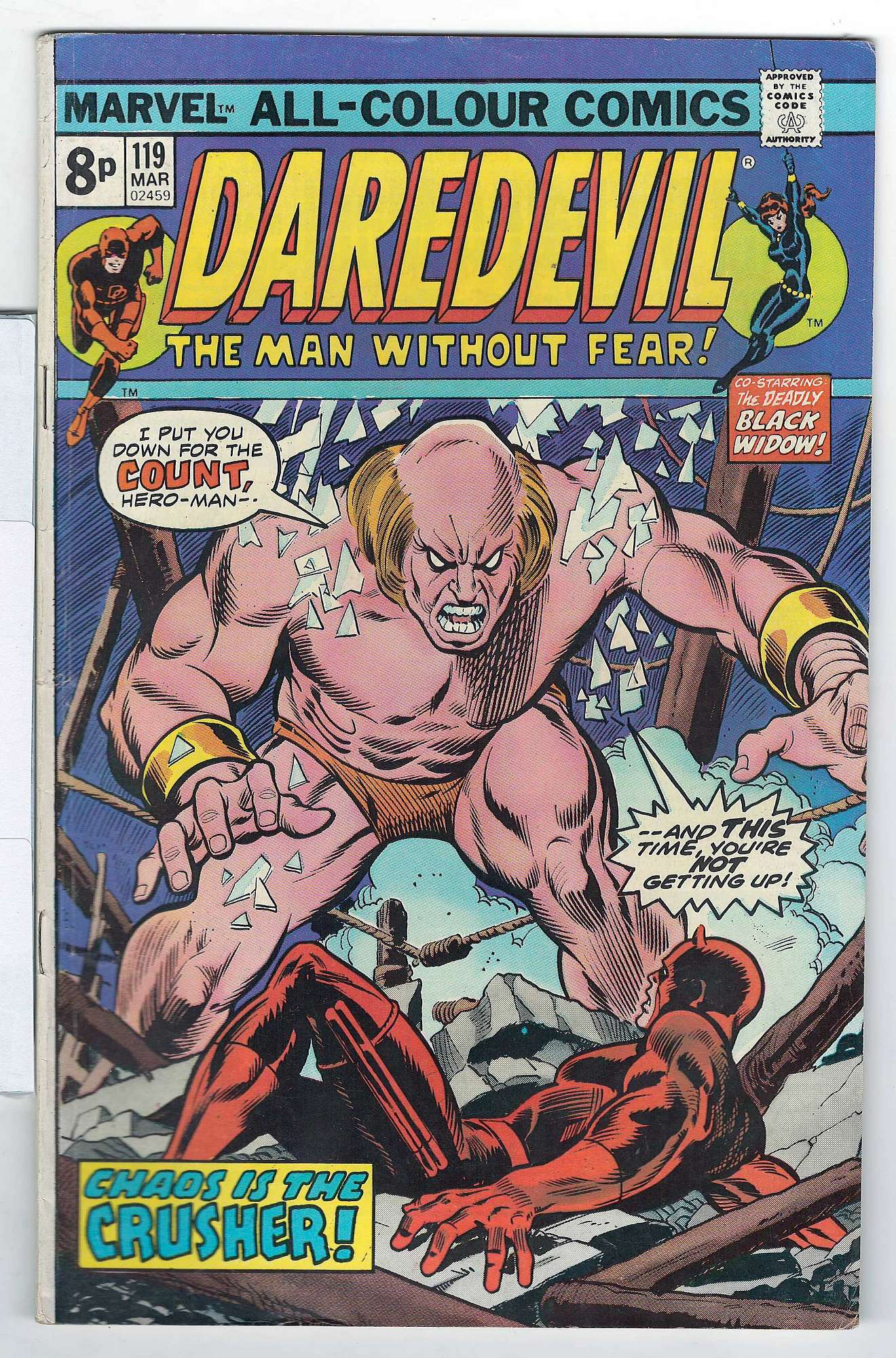 Cover of Daredevil (Vol 1) #119. One of 250,000 Vintage American Comics on sale from Krypton!