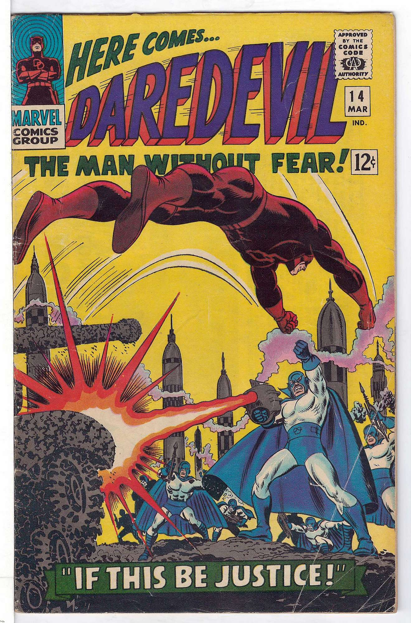 Cover of Daredevil (Vol 1) #14. One of 250,000 Vintage American Comics on sale from Krypton!