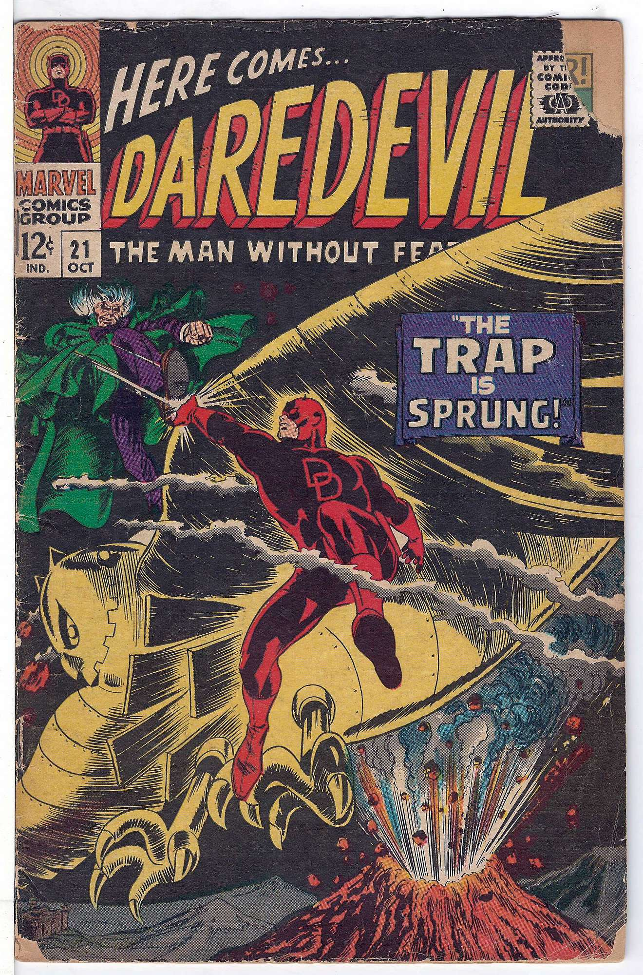 Cover of Daredevil (Vol 1) #21. One of 250,000 Vintage American Comics on sale from Krypton!