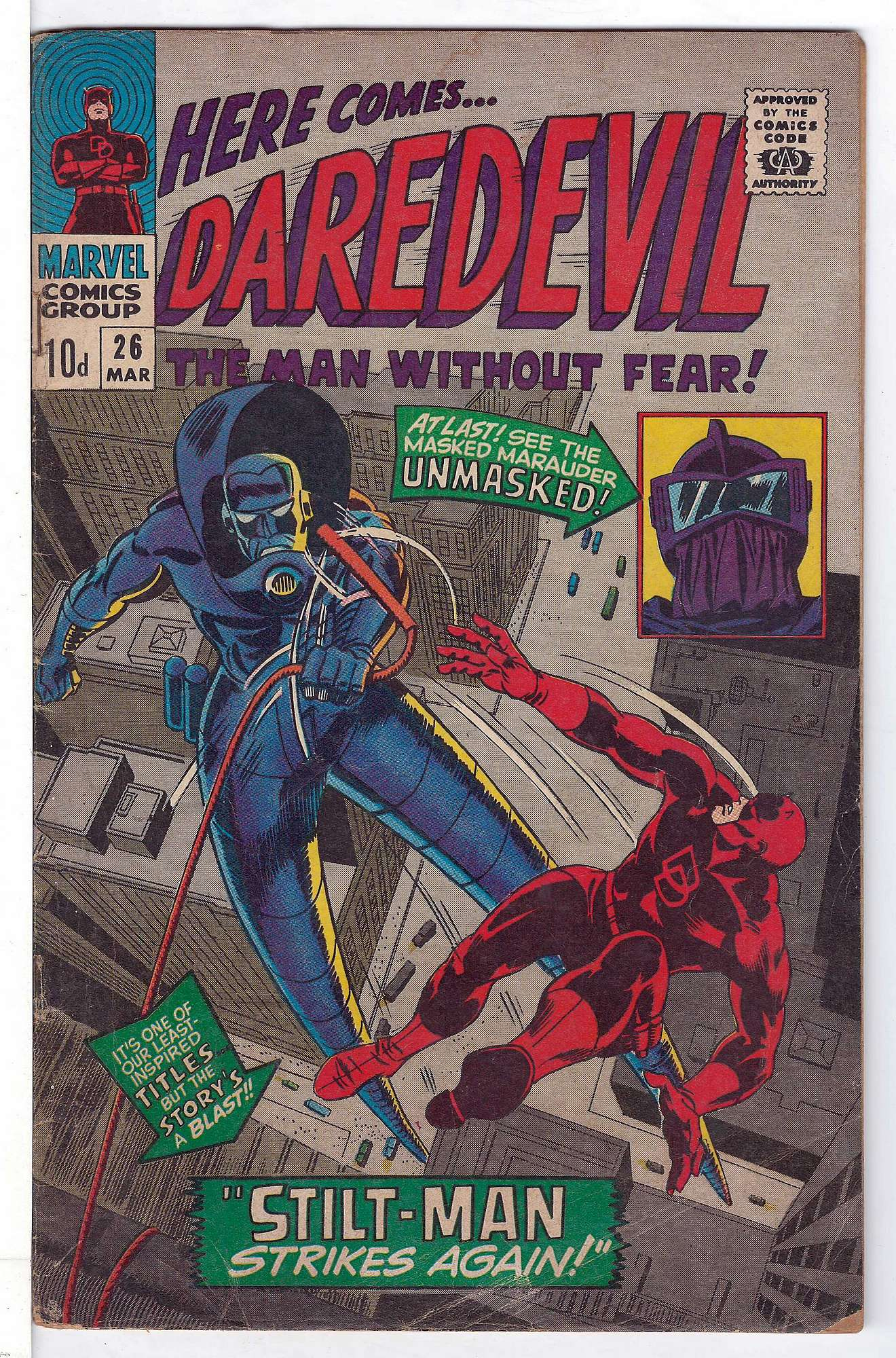 Cover of Daredevil (Vol 1) #26. One of 250,000 Vintage American Comics on sale from Krypton!