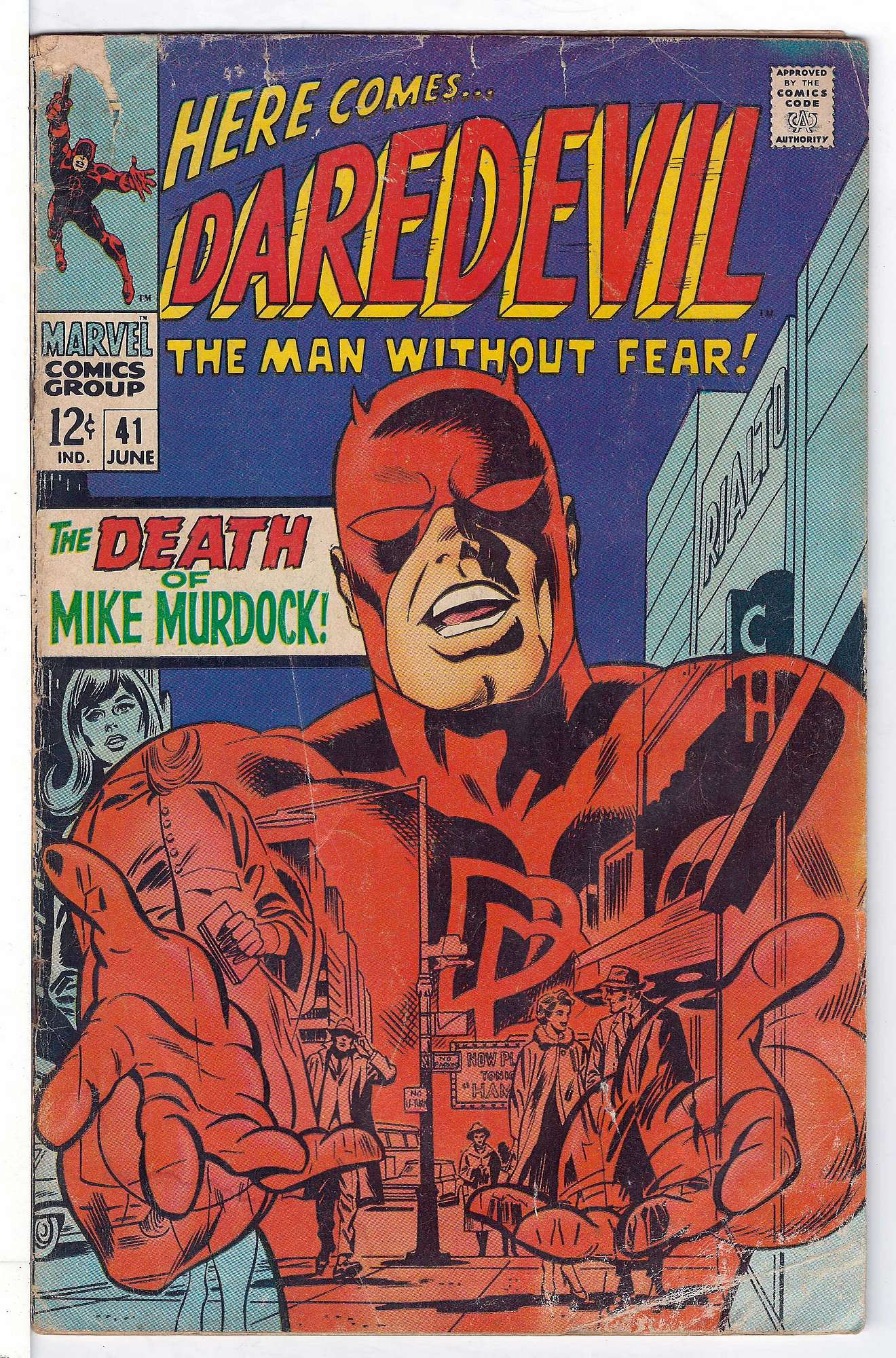 Cover of Daredevil (Vol 1) #41. One of 250,000 Vintage American Comics on sale from Krypton!