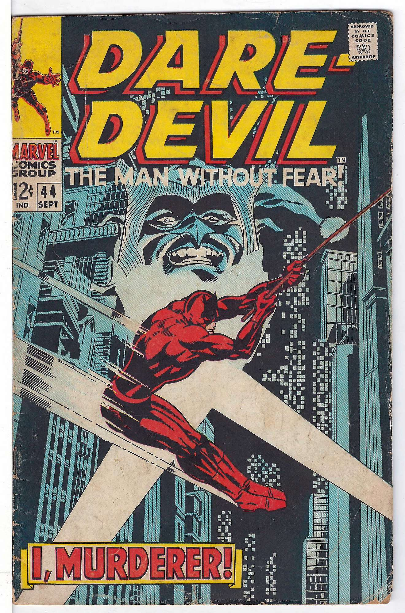 Cover of Daredevil (Vol 1) #44. One of 250,000 Vintage American Comics on sale from Krypton!
