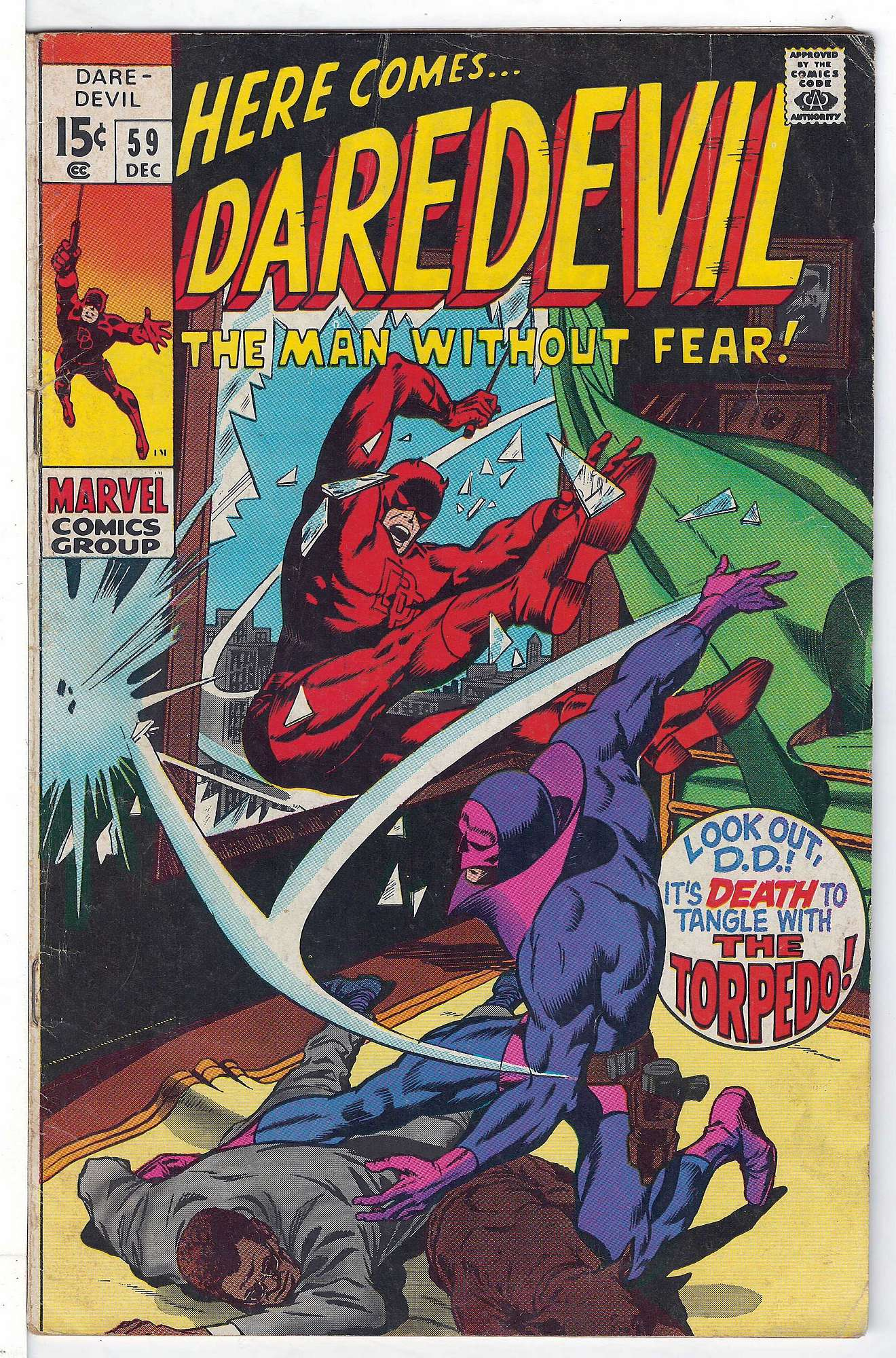 Cover of Daredevil (Vol 1) #59. One of 250,000 Vintage American Comics on sale from Krypton!