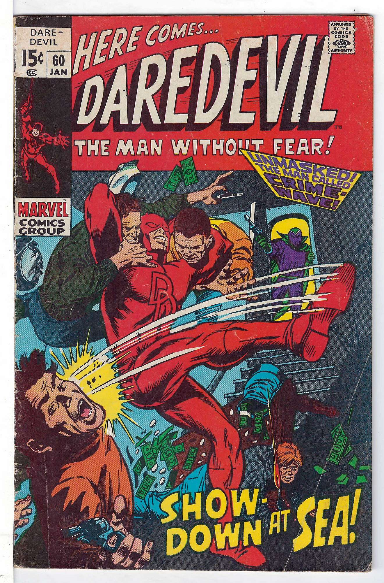 Cover of Daredevil (Vol 1) #60. One of 250,000 Vintage American Comics on sale from Krypton!