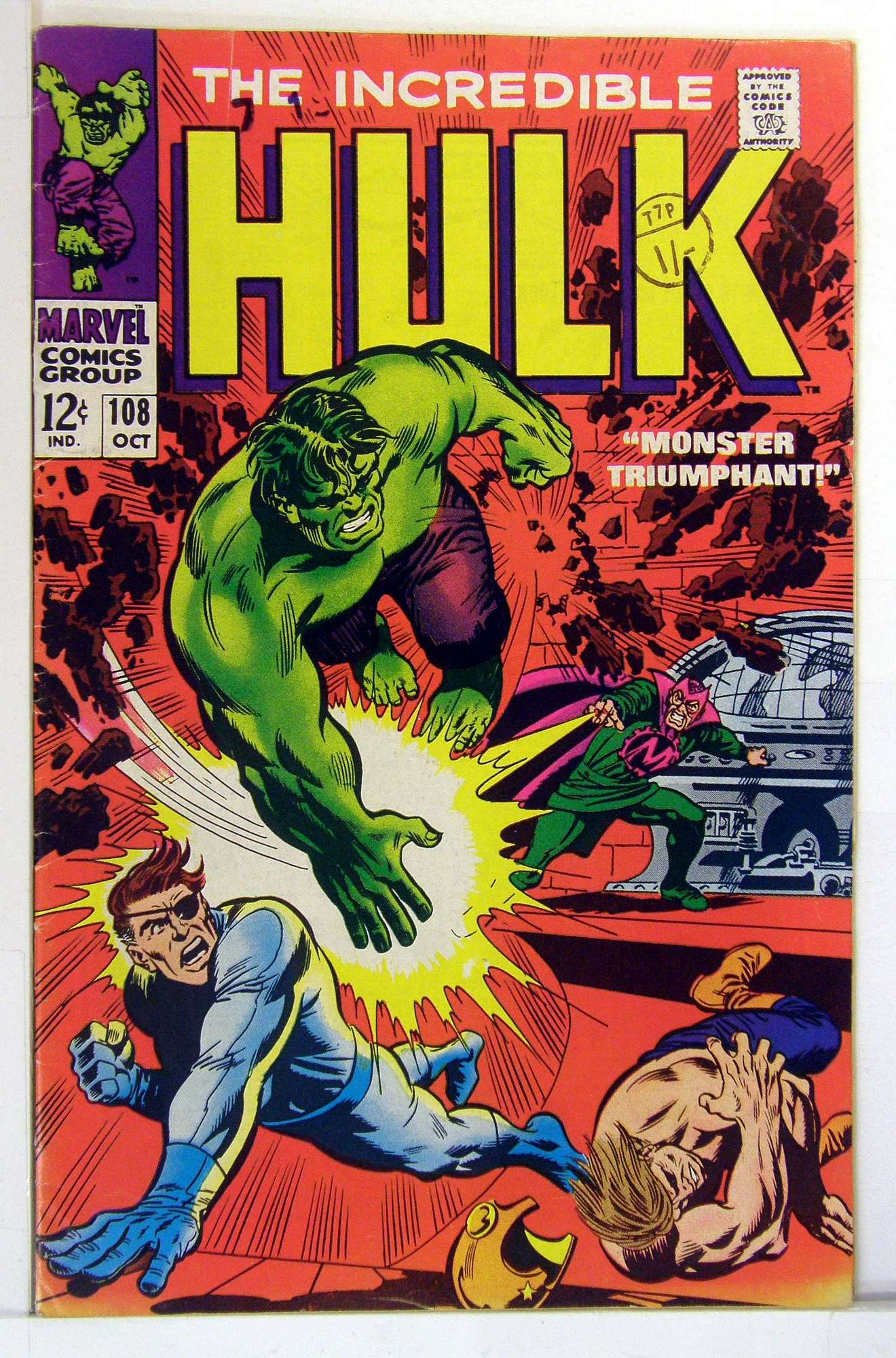 Cover of Incredible Hulk (Vol 2) #108. One of 250,000 Vintage American Comics on sale from Krypton!