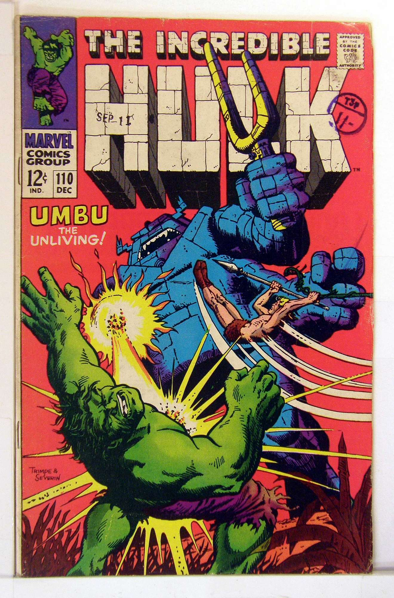 Cover of Incredible Hulk (Vol 2) #110. One of 250,000 Vintage American Comics on sale from Krypton!