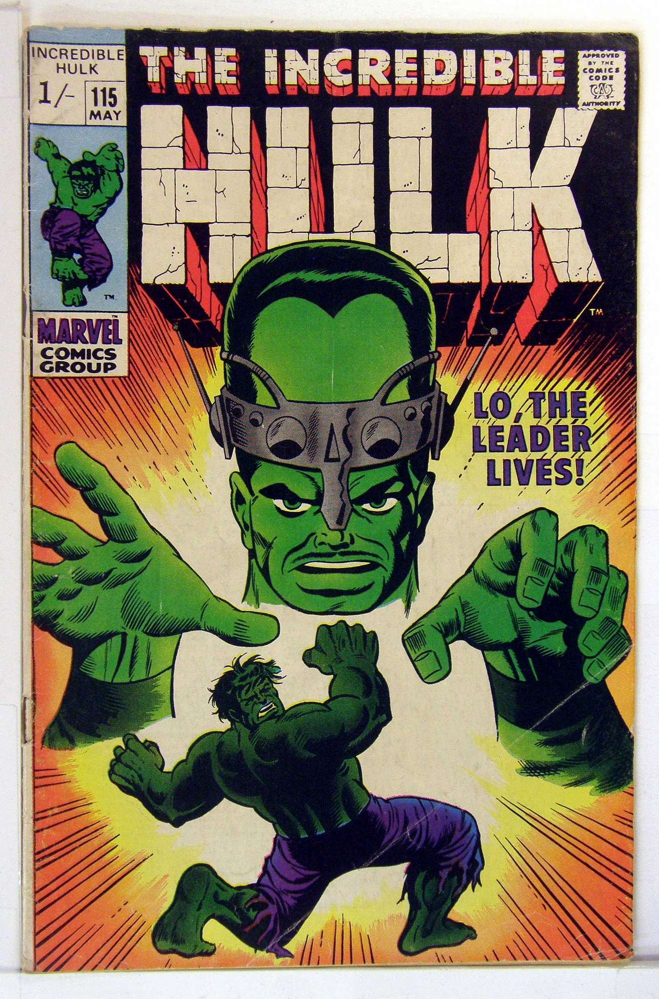 Cover of Incredible Hulk (Vol 2) #115. One of 250,000 Vintage American Comics on sale from Krypton!