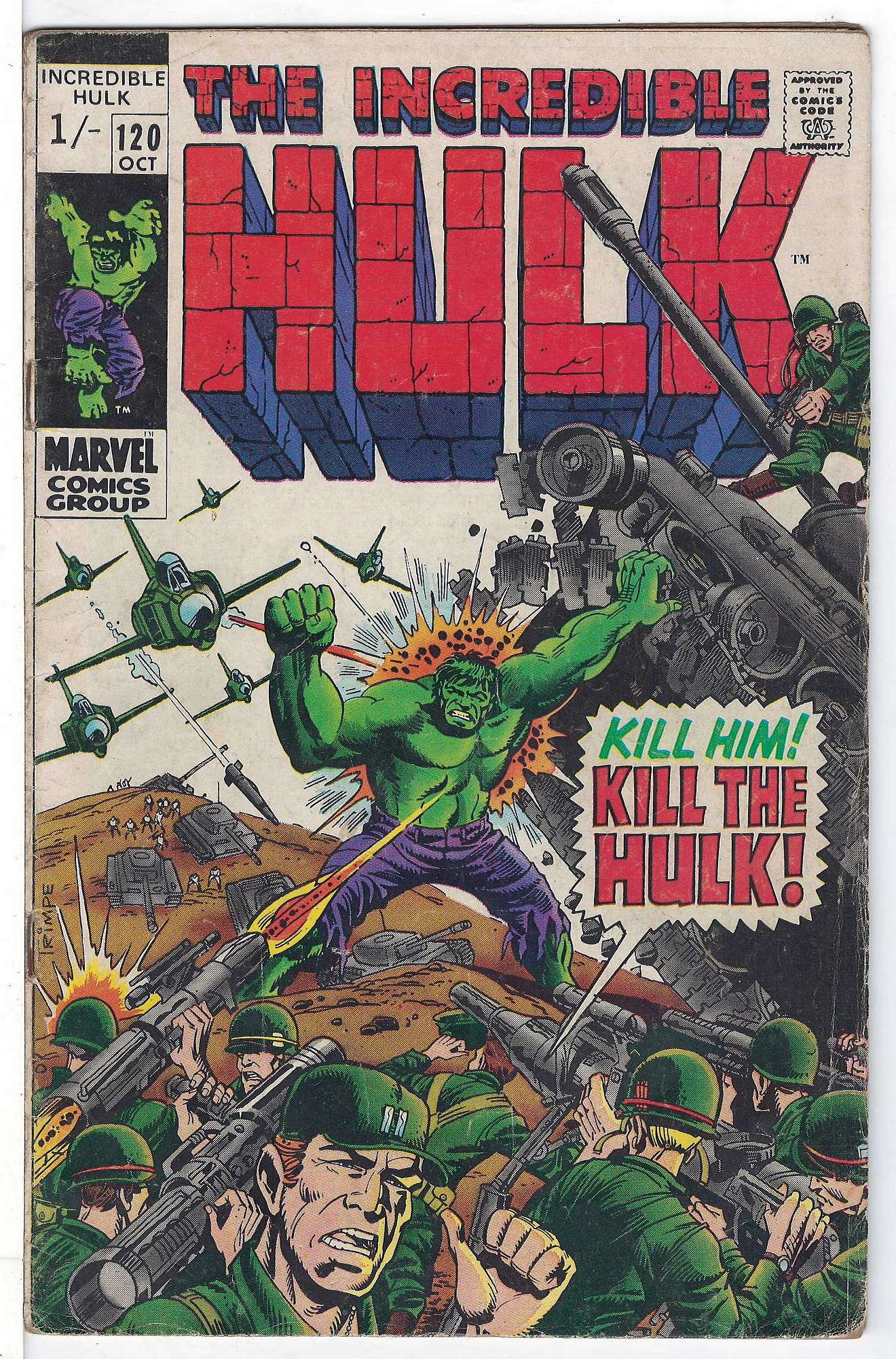 Cover of Incredible Hulk (Vol 2) #120. One of 250,000 Vintage American Comics on sale from Krypton!