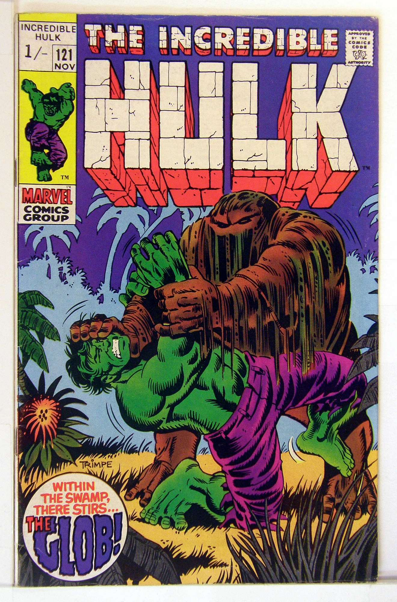 Cover of Incredible Hulk (Vol 2) #121. One of 250,000 Vintage American Comics on sale from Krypton!