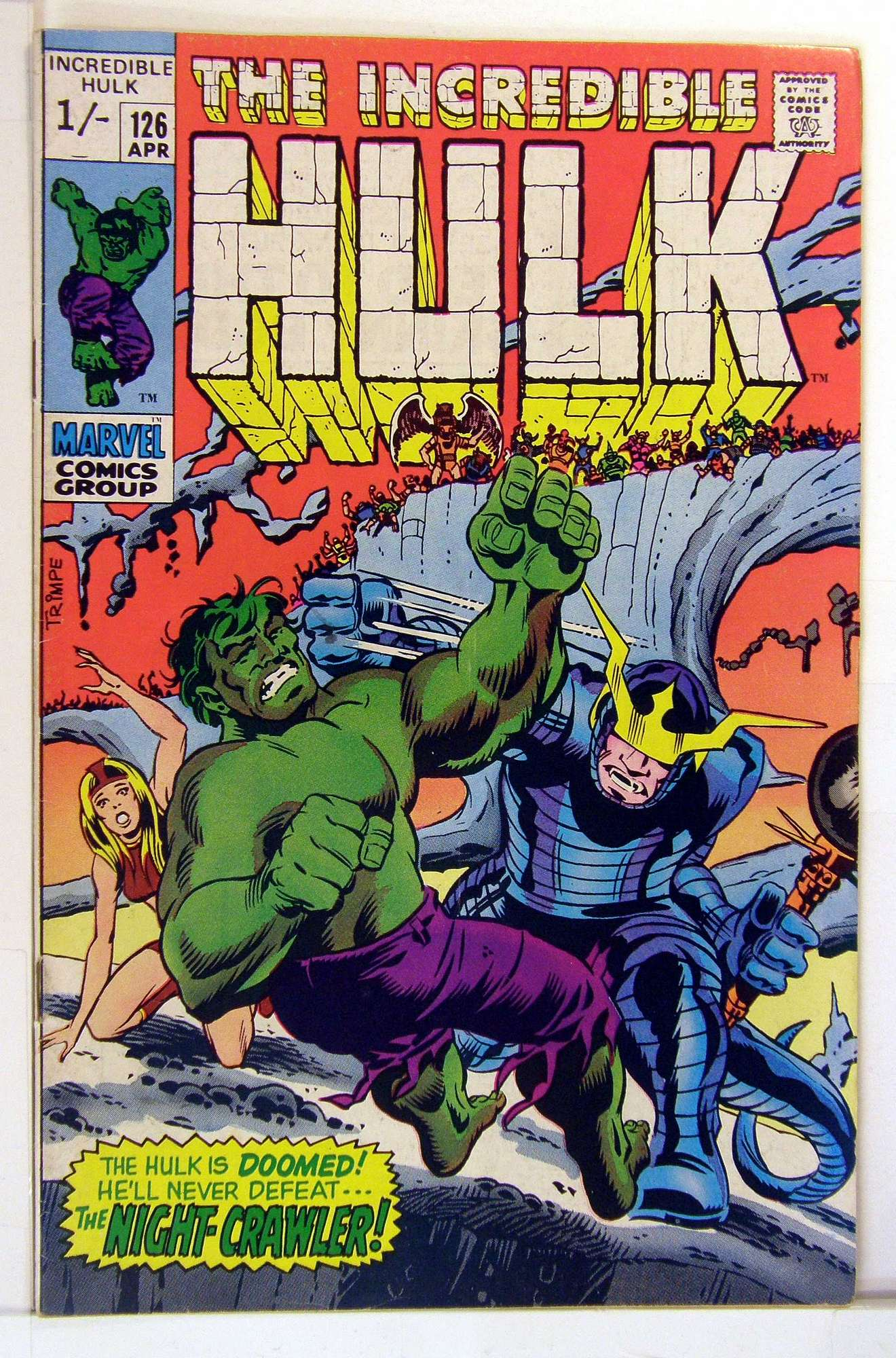 Cover of Incredible Hulk (Vol 2) #126. One of 250,000 Vintage American Comics on sale from Krypton!